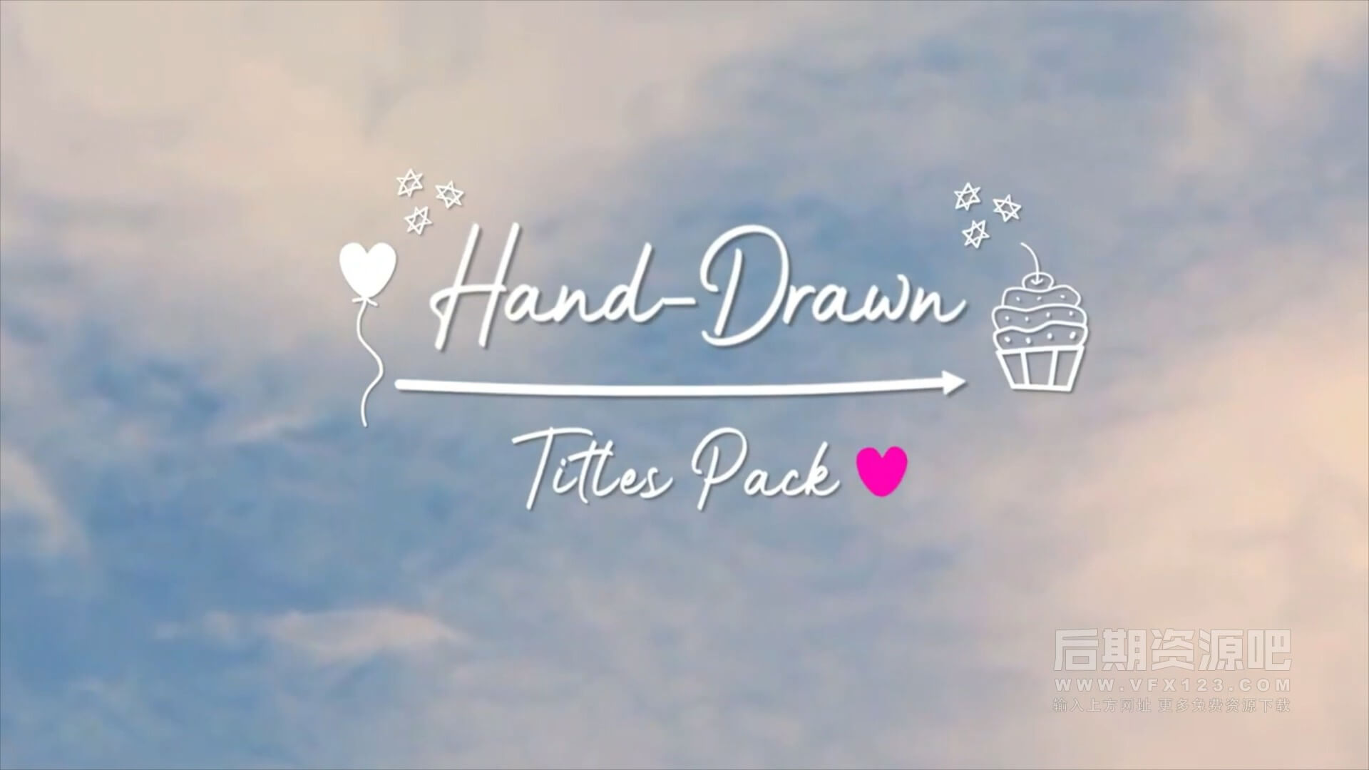 fcpx插件 28个可爱卡通手绘标题模板+动画元素 Hand-Drawn Titles