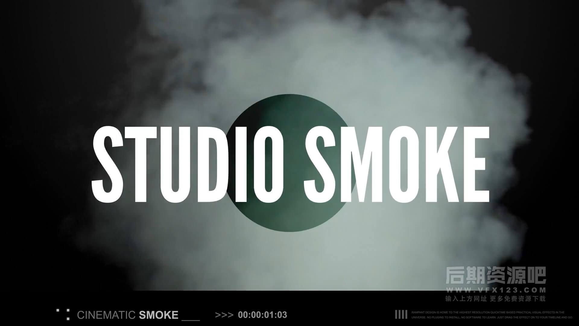 视频素材 161个4K真实烟雾特效合成素材 Rampant Studio Smoke