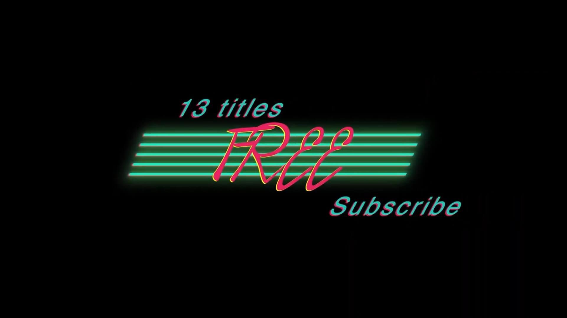 fcpx标题插件 13组80s风格复古标题字幕模板 Retro Titles