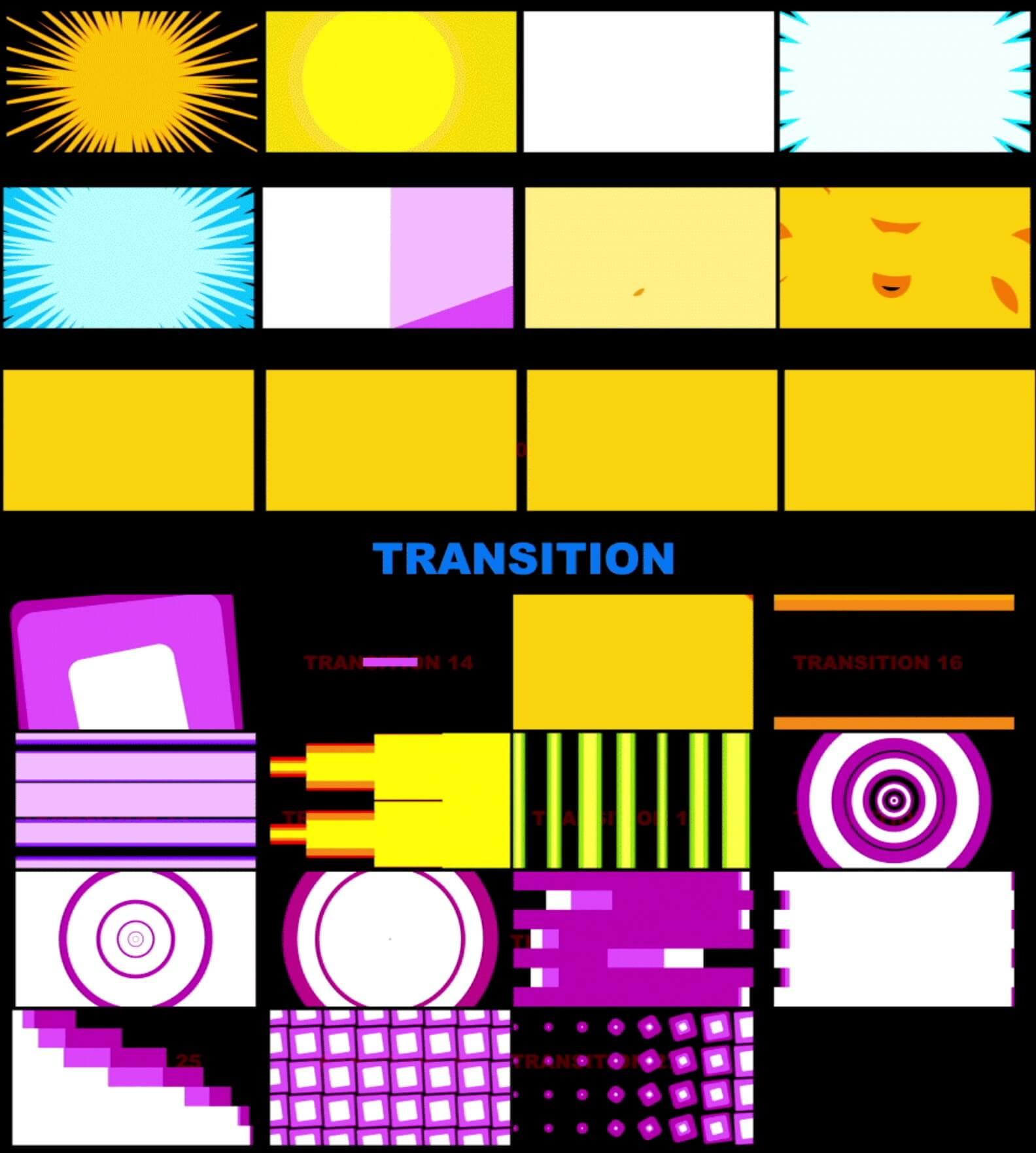 视频素材 100+4K创意图形运动流体动画元素包 Motion Element