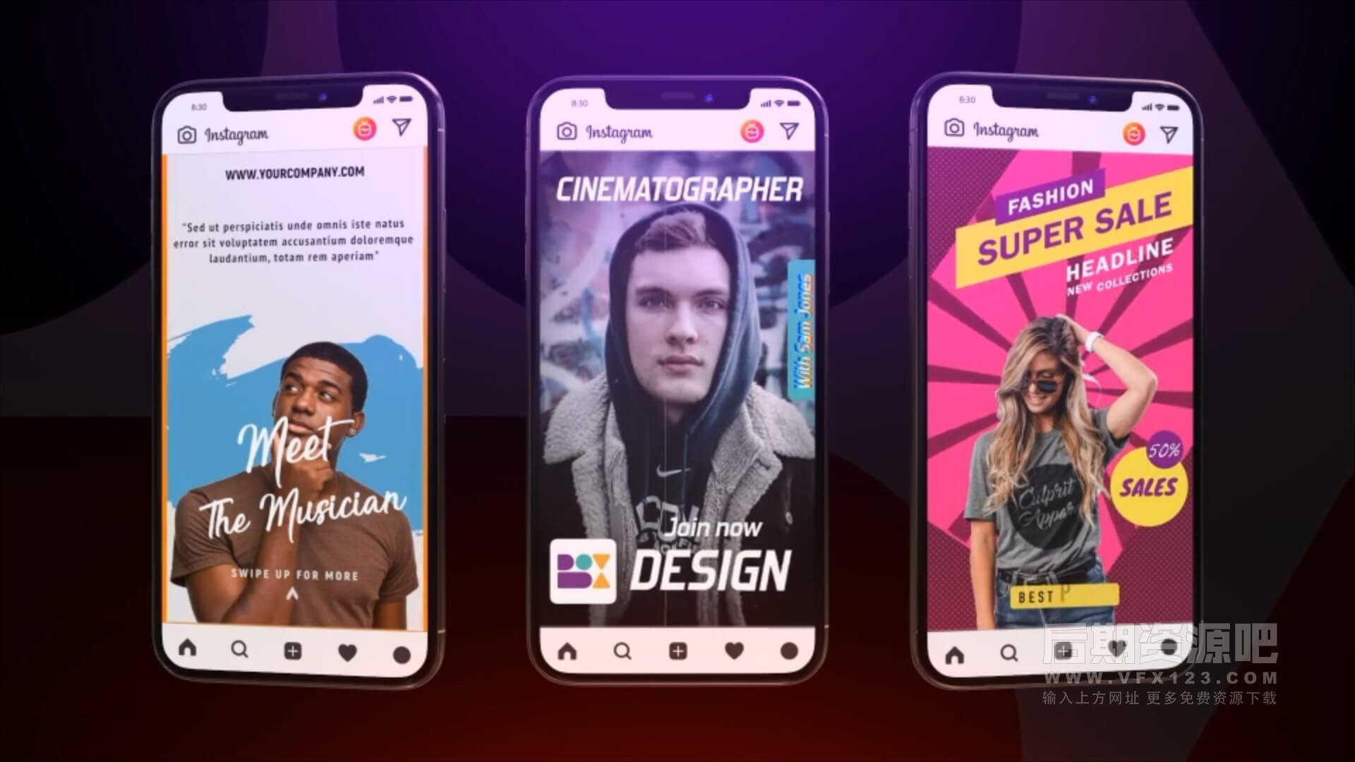 fcpx插件 127种INS手机短视频竖屏时尚排版设计展示包装动画