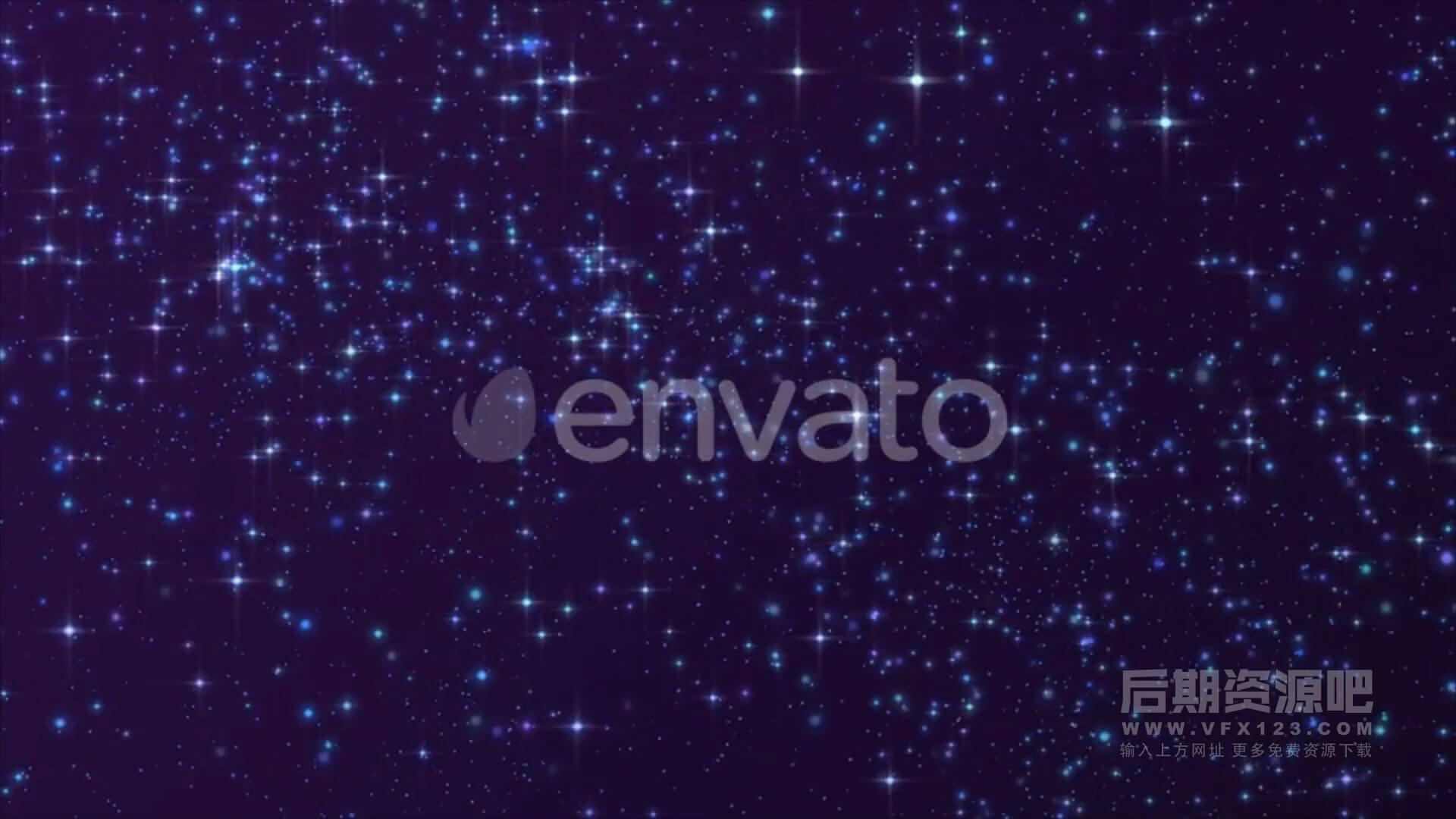 视频素材 5段4K星空璀璨闪闪背景素材 每段20s Stardust