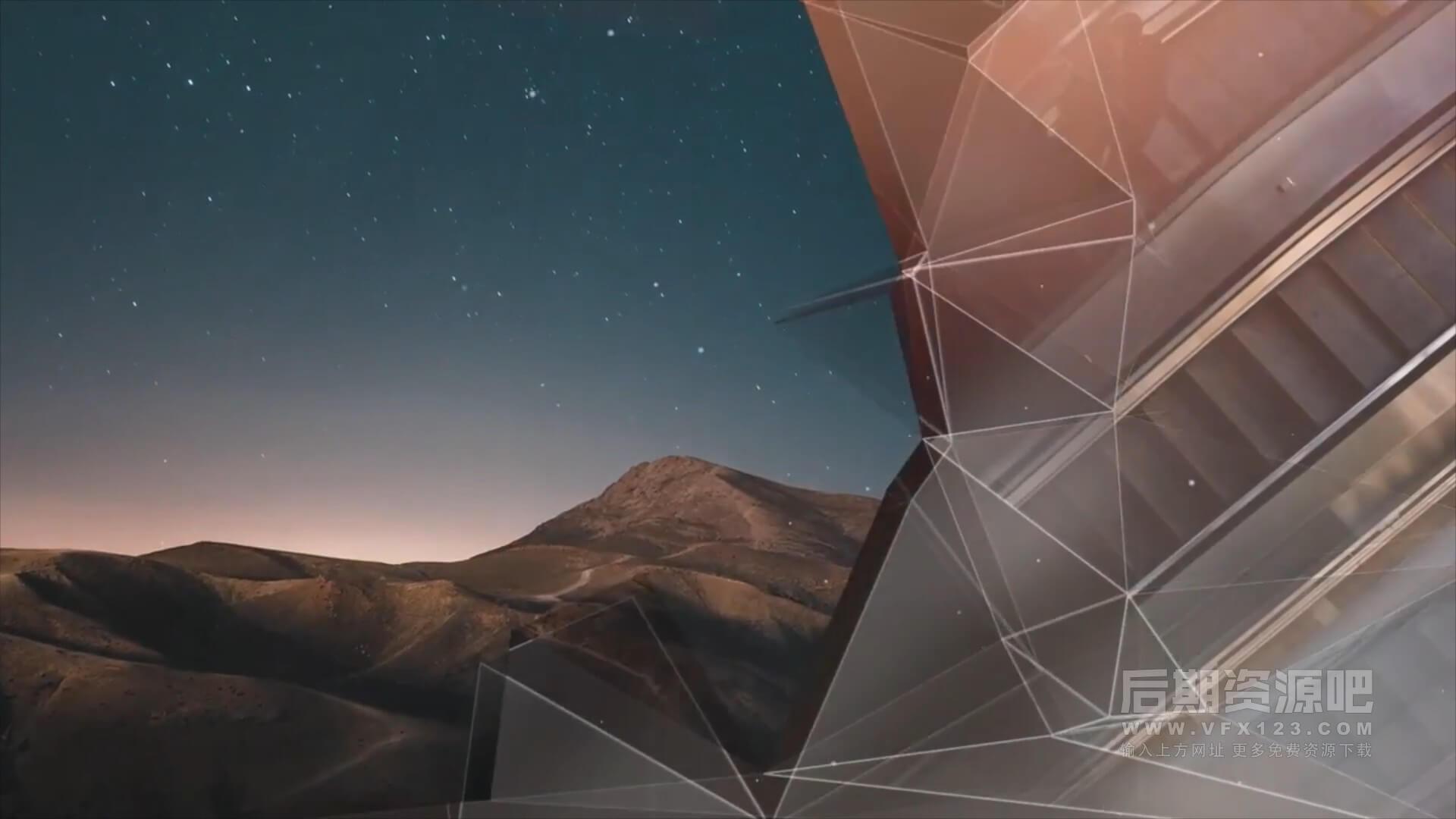 fcpx主题模板 创意优雅图文展示相册模板 Slideshow Elegant Plexus