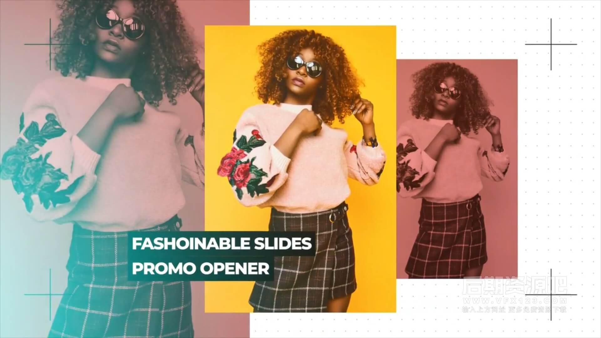 fcpx主题模板 流行时尚写真个人展示开场片头 Clean Fashion Opener