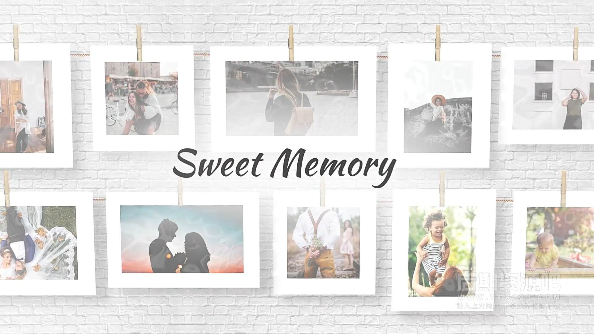 fcpx主题模板 甜蜜记忆图文展示相册片头模板 Sweet Memories