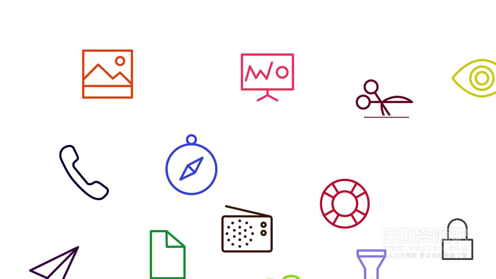 fcpx插件 192个icons图标动画元素包 可自动跟踪对象 Icon Pop