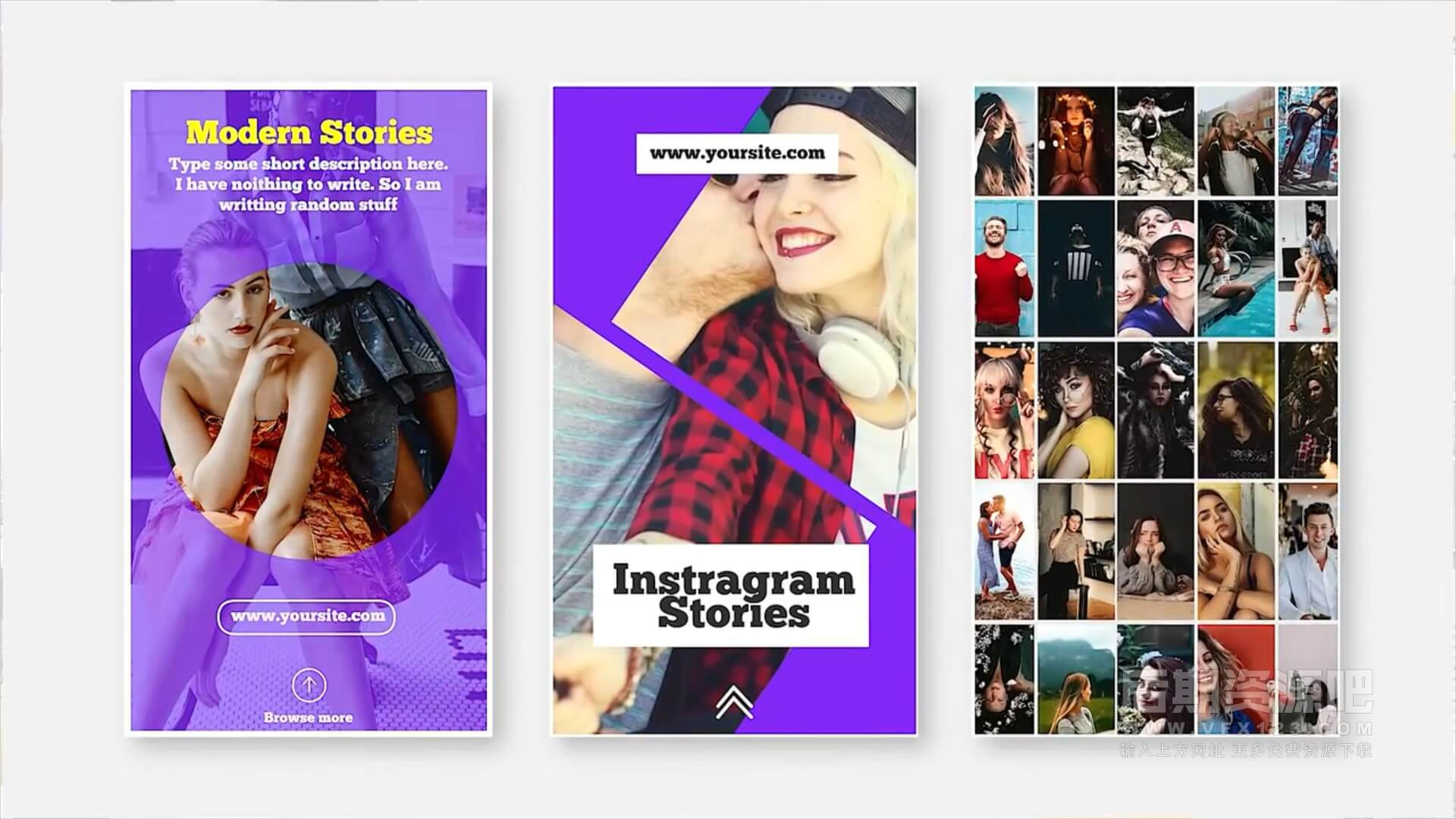 fcpx竖屏模板 30组手机竖屏短视频片头模板 Ins Stories V.5