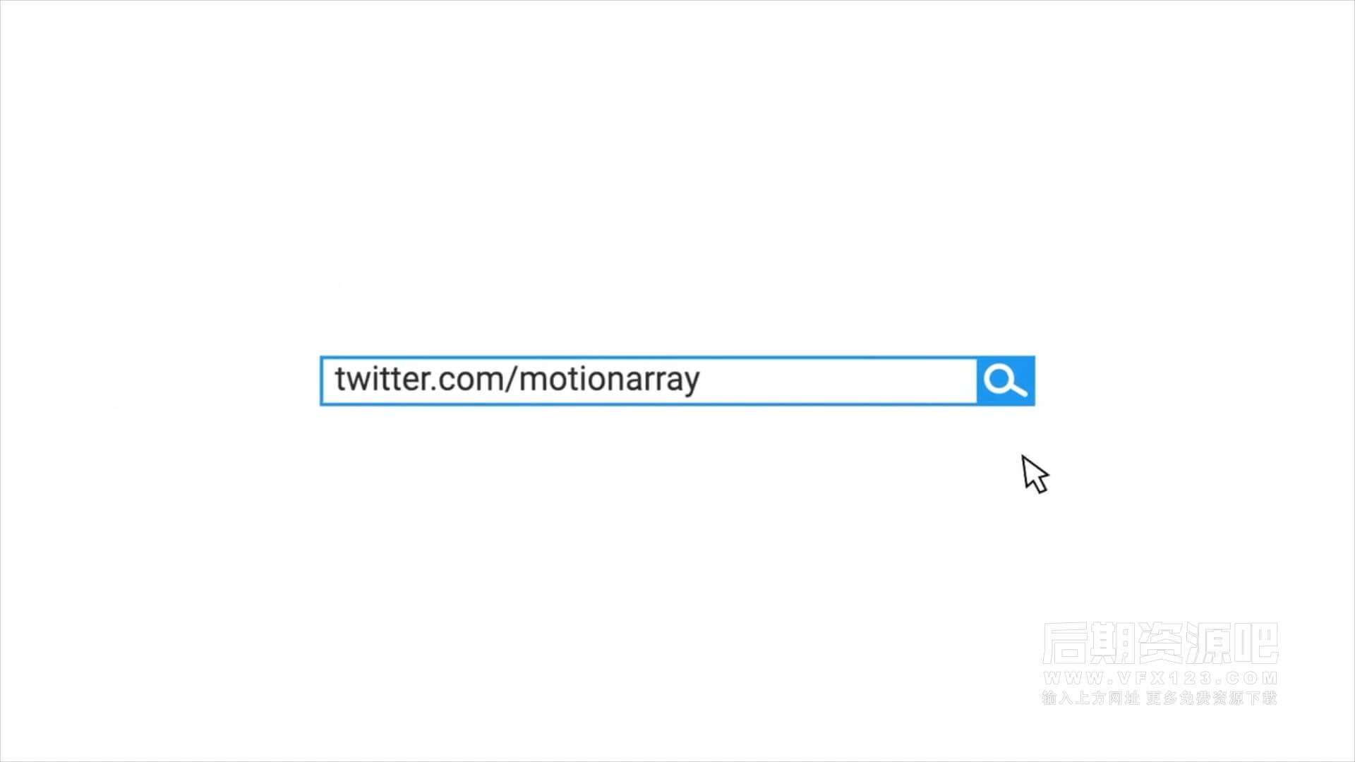fcpx插件 搜索框样式LOGO徽标展示模板 Search social media opener