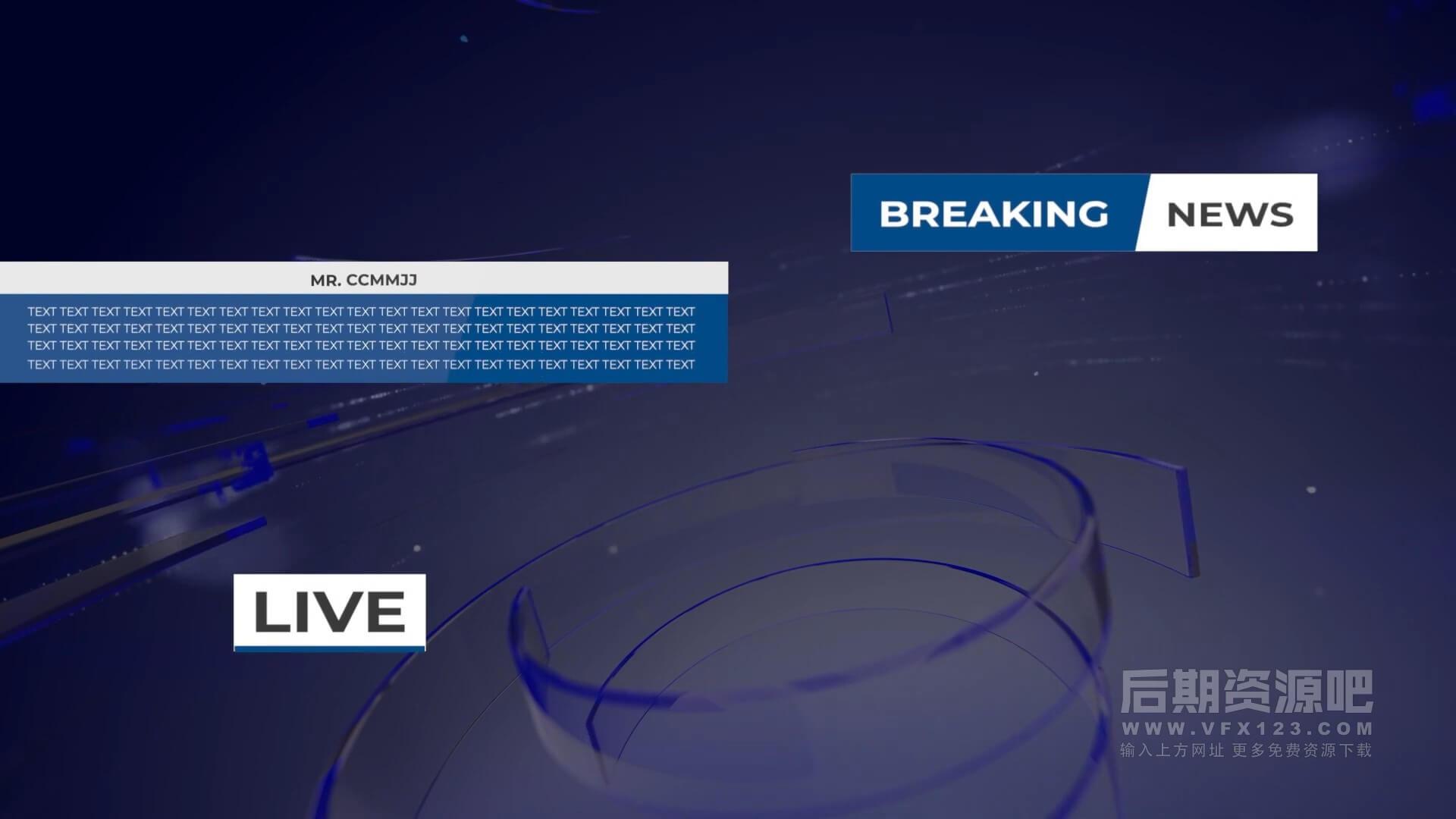 fcpx插件 实用新闻News栏目包装素材包 News BroadCast Vol.1