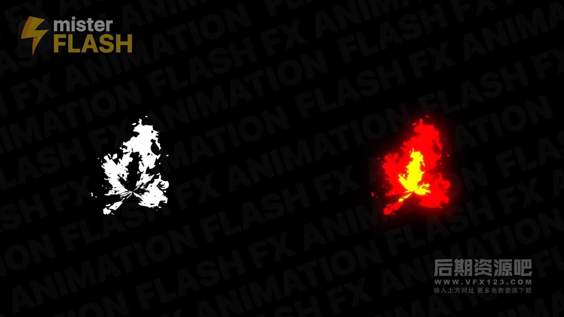 fcpx插件 12个卡通手绘风格火焰MG动画素材 带音效 Burning Elements
