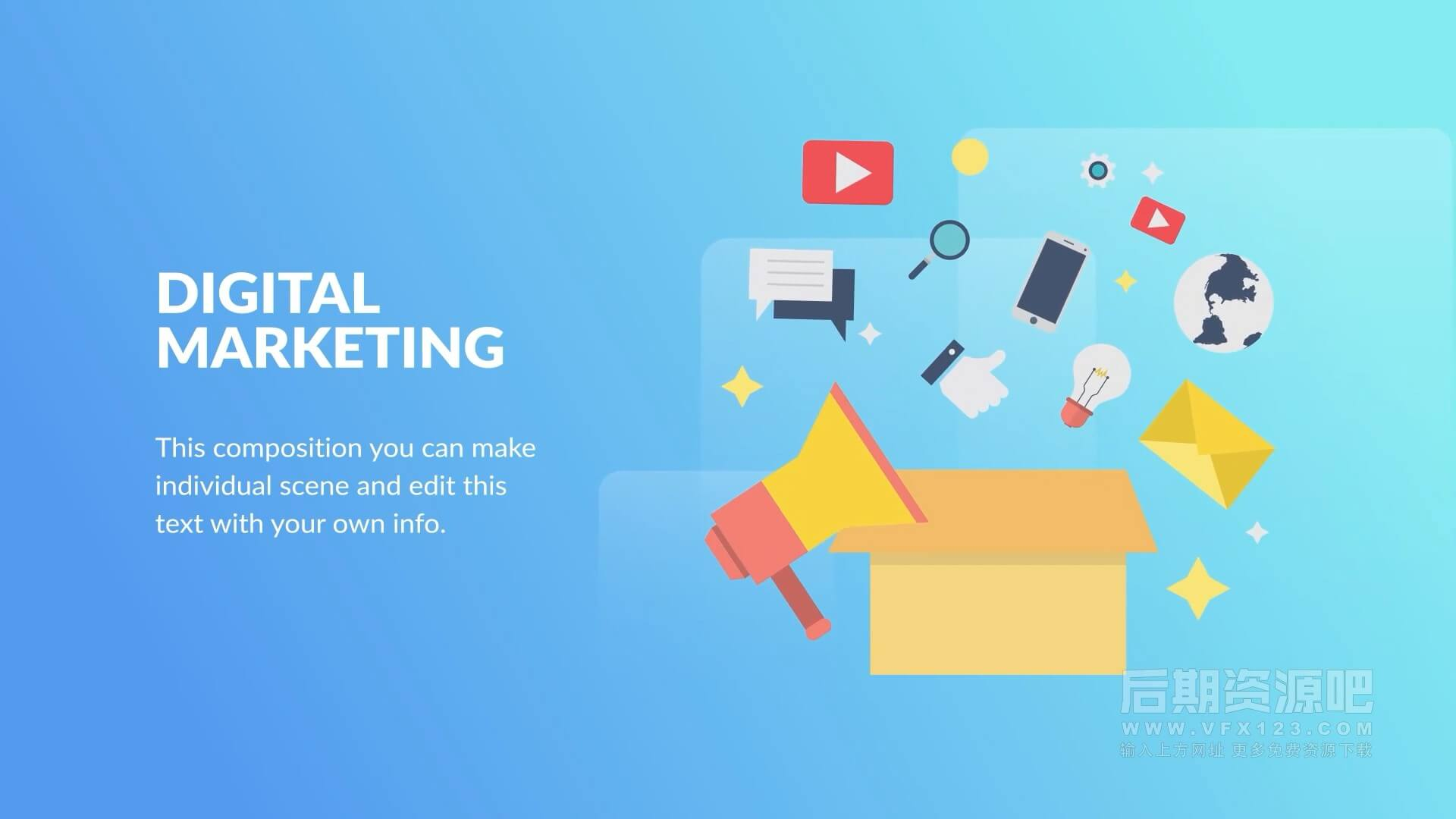 fcpx插件 12组互联网营销演示文稿场景动画包 Internet Marketing Animation