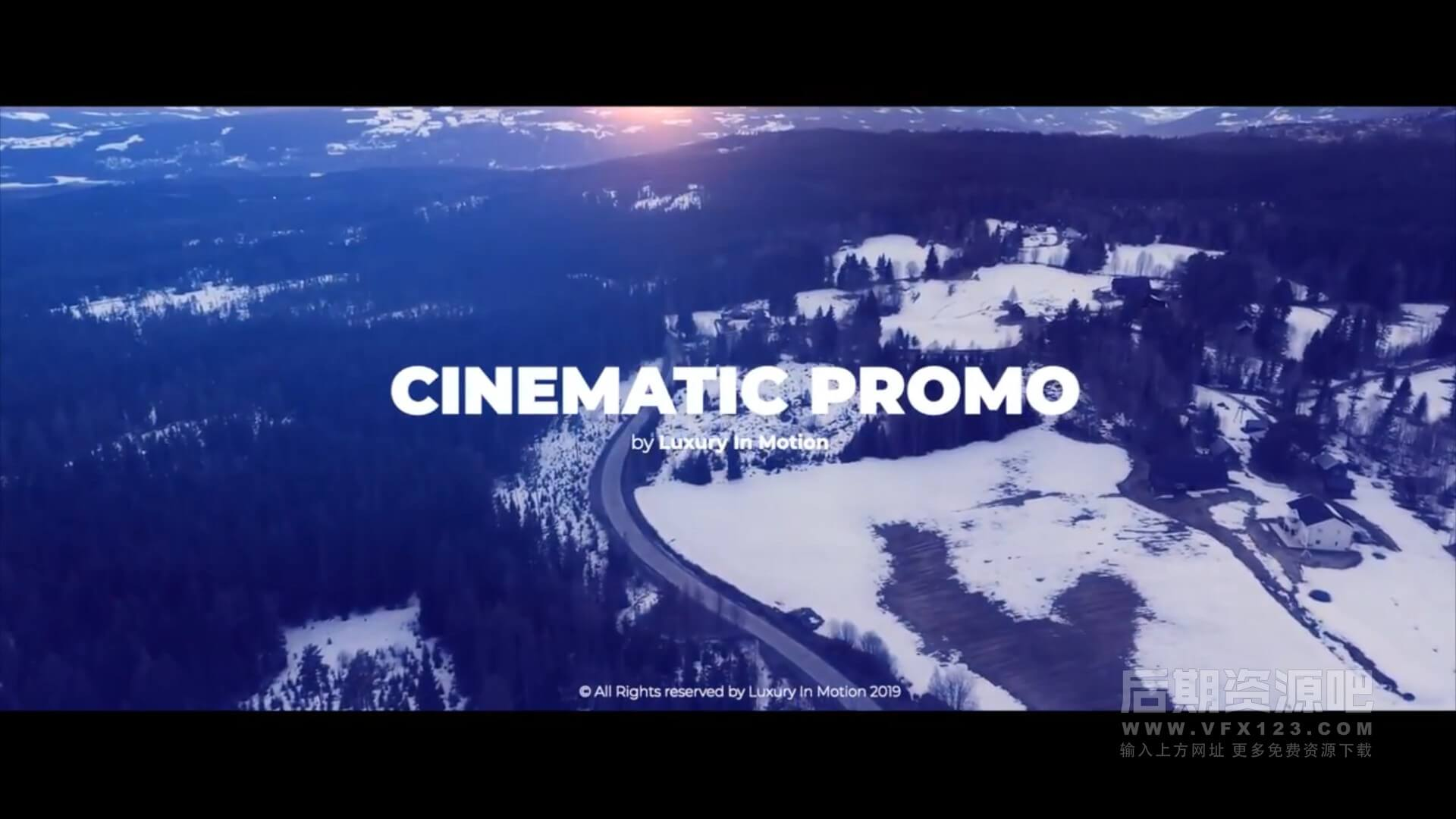 fcpx主题模板 通用电影预告片宣传片开场片头 Cinematic Promo