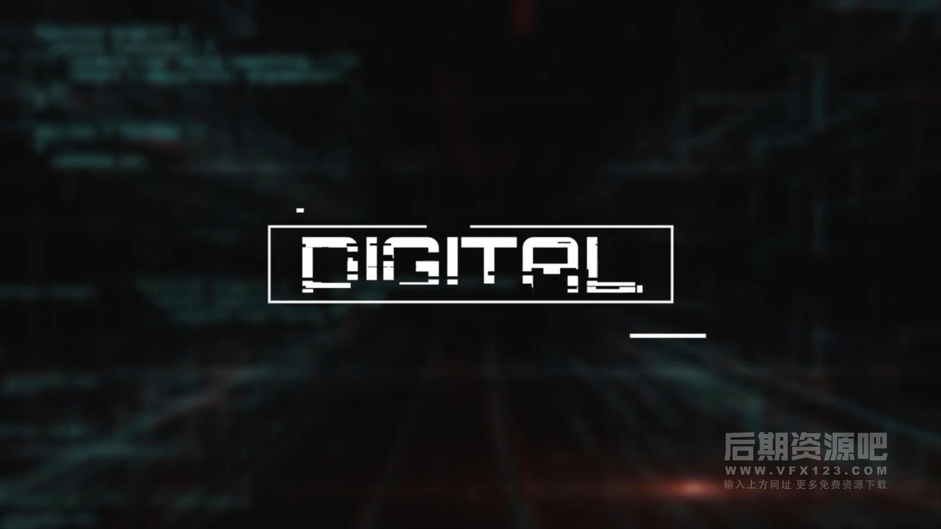 fcpx插件 信号干扰故障特效标题模板适用数码测评等 Digital titles