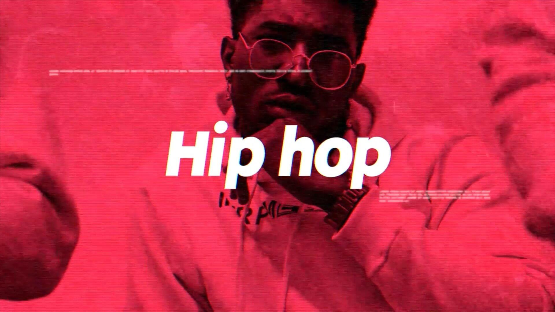 fcpx主题模板 热烈毛刺干扰效果图文视频展示片头 Dynamic Hip Hop Slideshow
