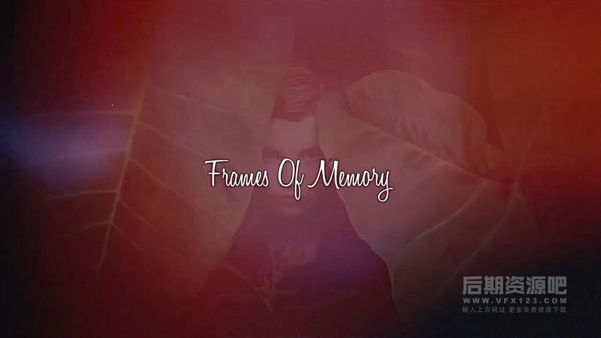 fcpx主题模板 美好记忆复古风格迷人相框相册展示模板 Frames Of Memory