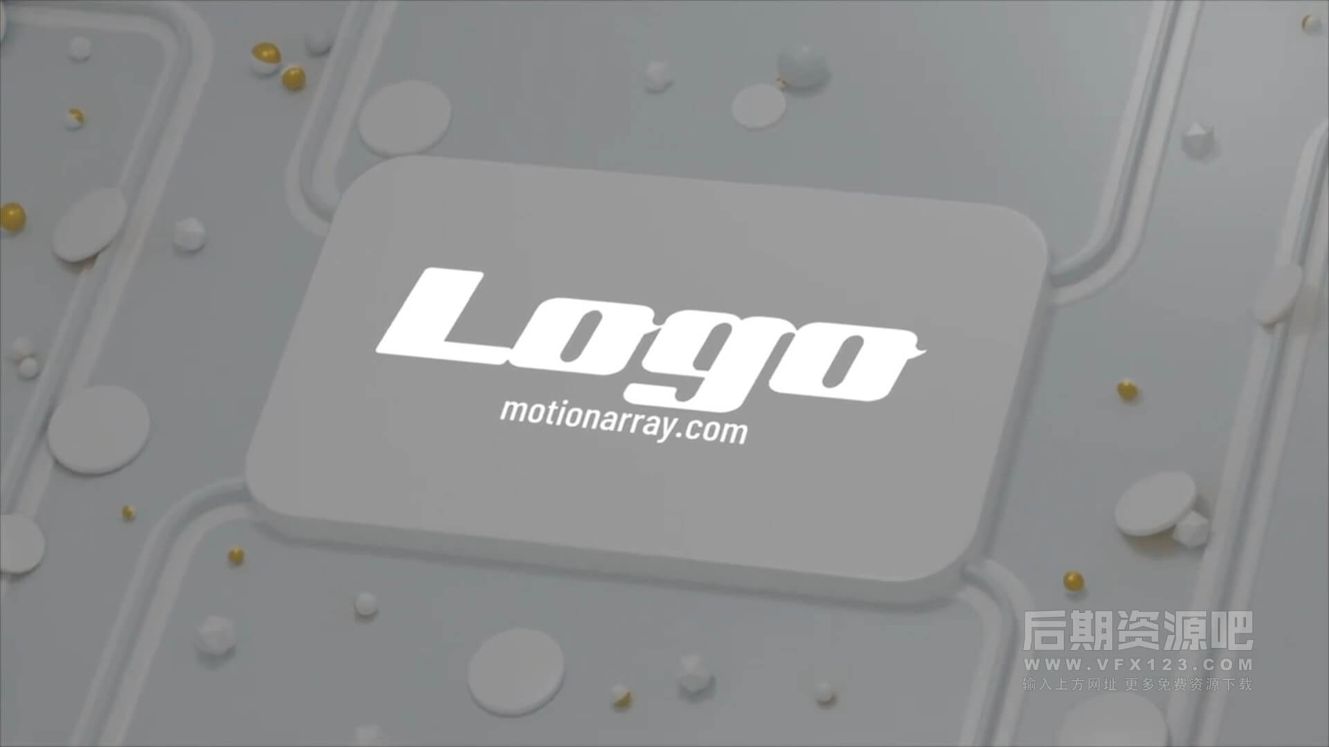 fcpx主题模板 3D效果徽标LOGO展示片头 3D White Logo