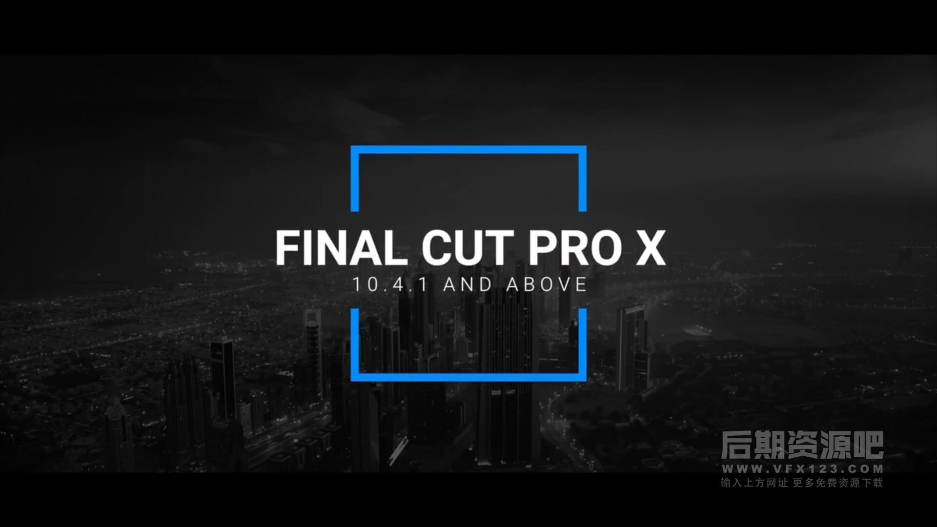 fcpx标题插件 10个简约干净标题模板 Clean Titles