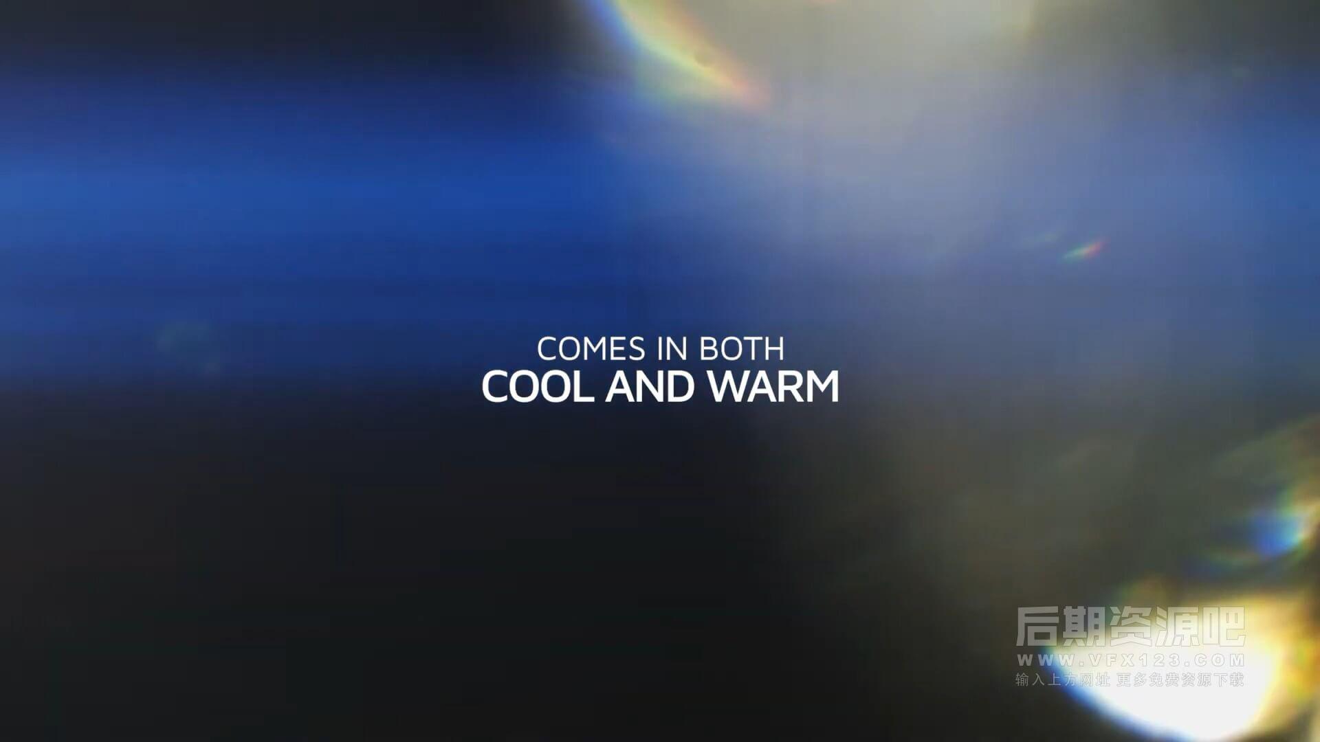 视频素材 4k冷暖色调镜头变形光斑反射光素材包 ANAMORPHIC FLARES