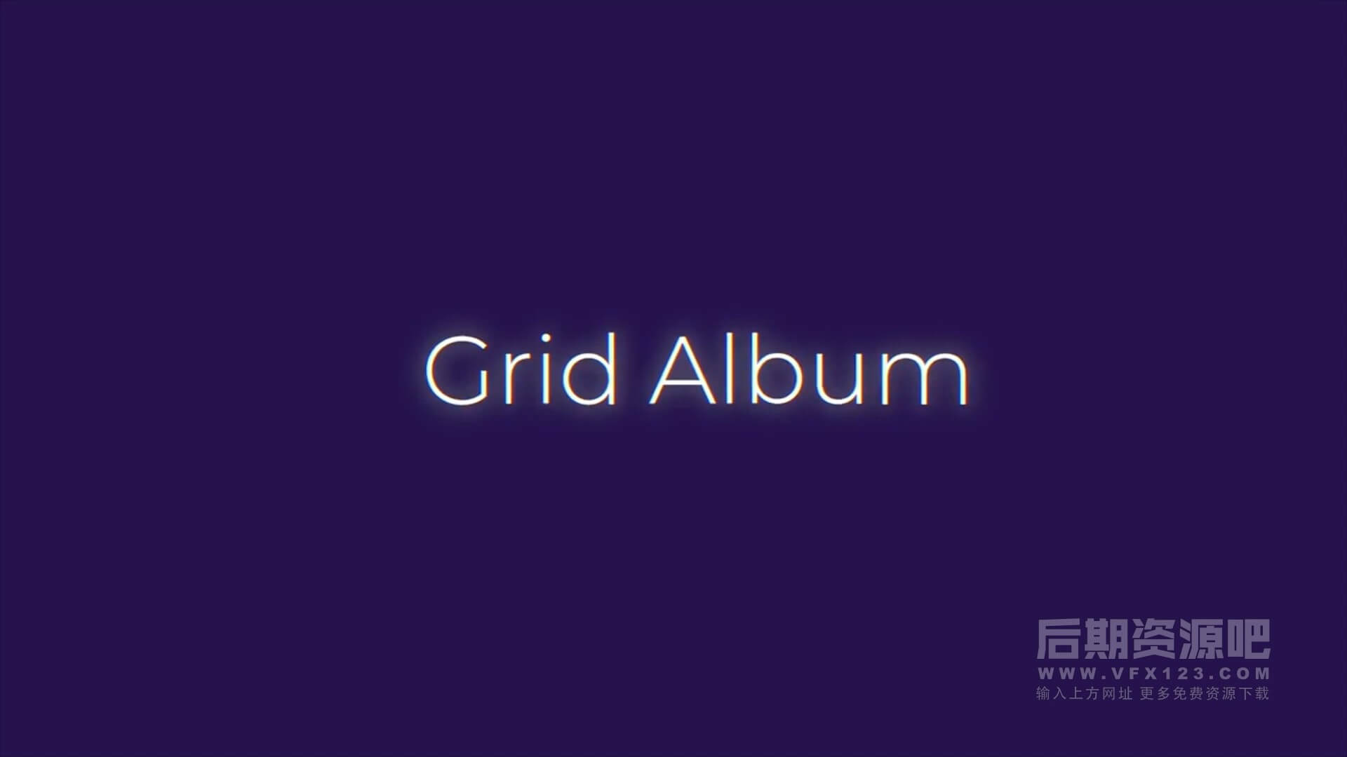 fcpx主题模板 win10磁贴网格色块样式图文展示片头 Grid Album