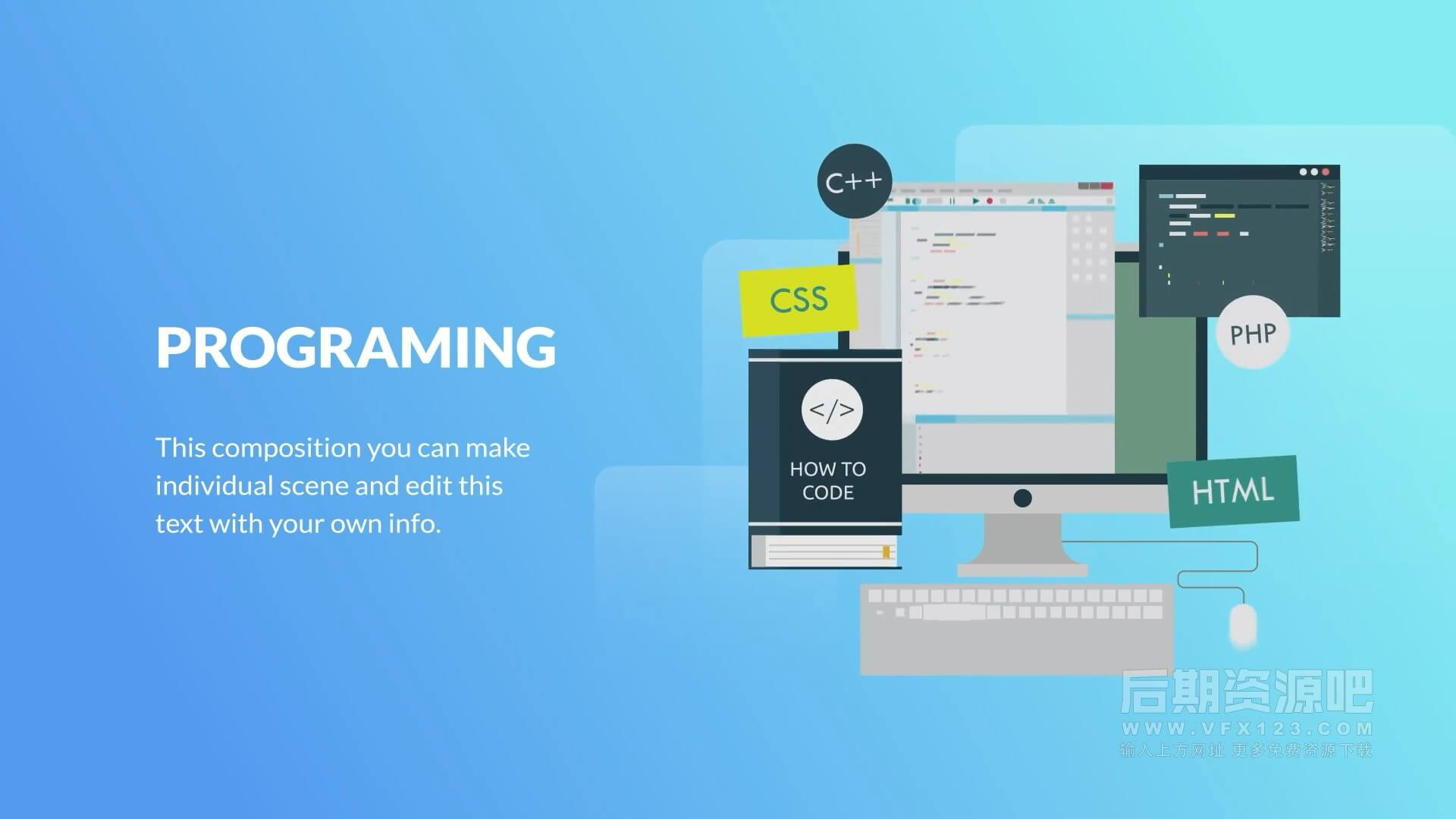 fcpx插件 设计开发学校相关演示文稿场景动画包 Design and Development Animation