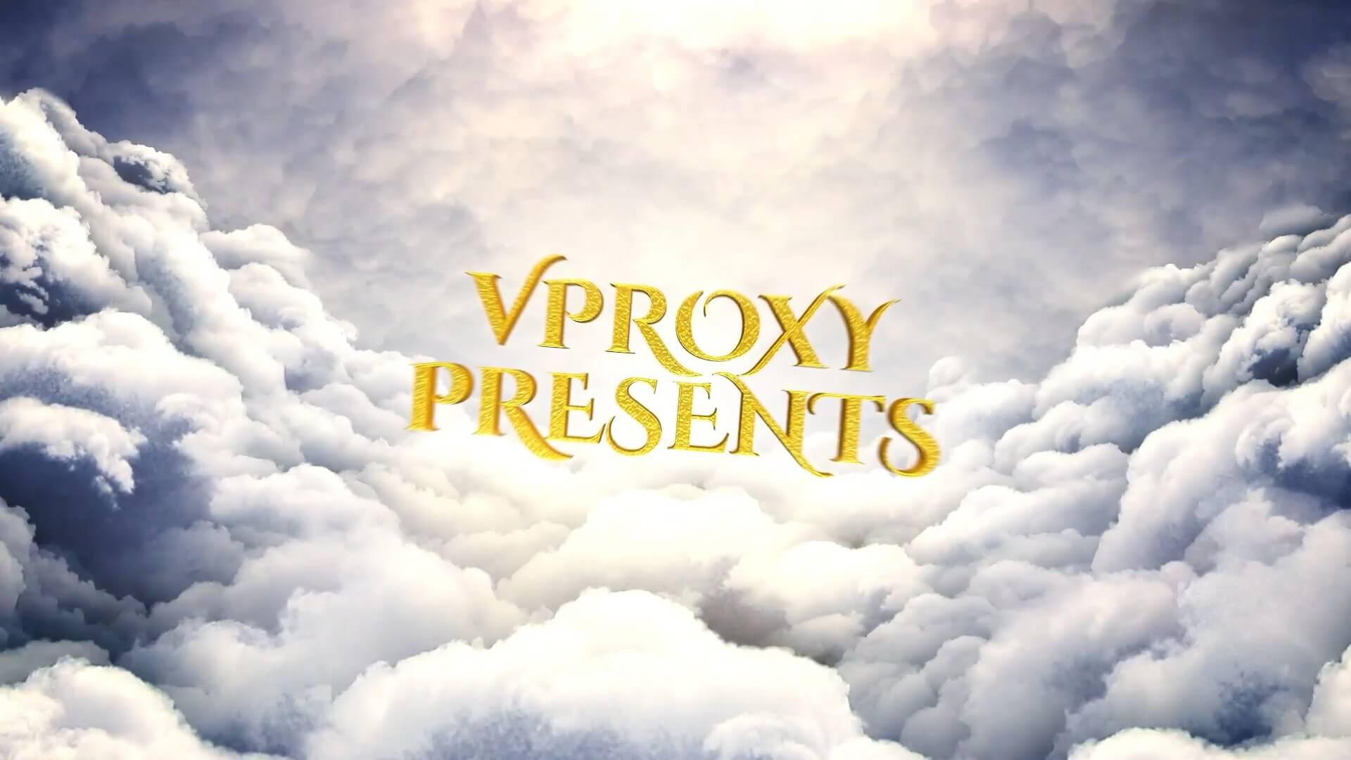fcpx主题模板 大气传奇金色文字云层之上电影预告片 Cinematic Opener