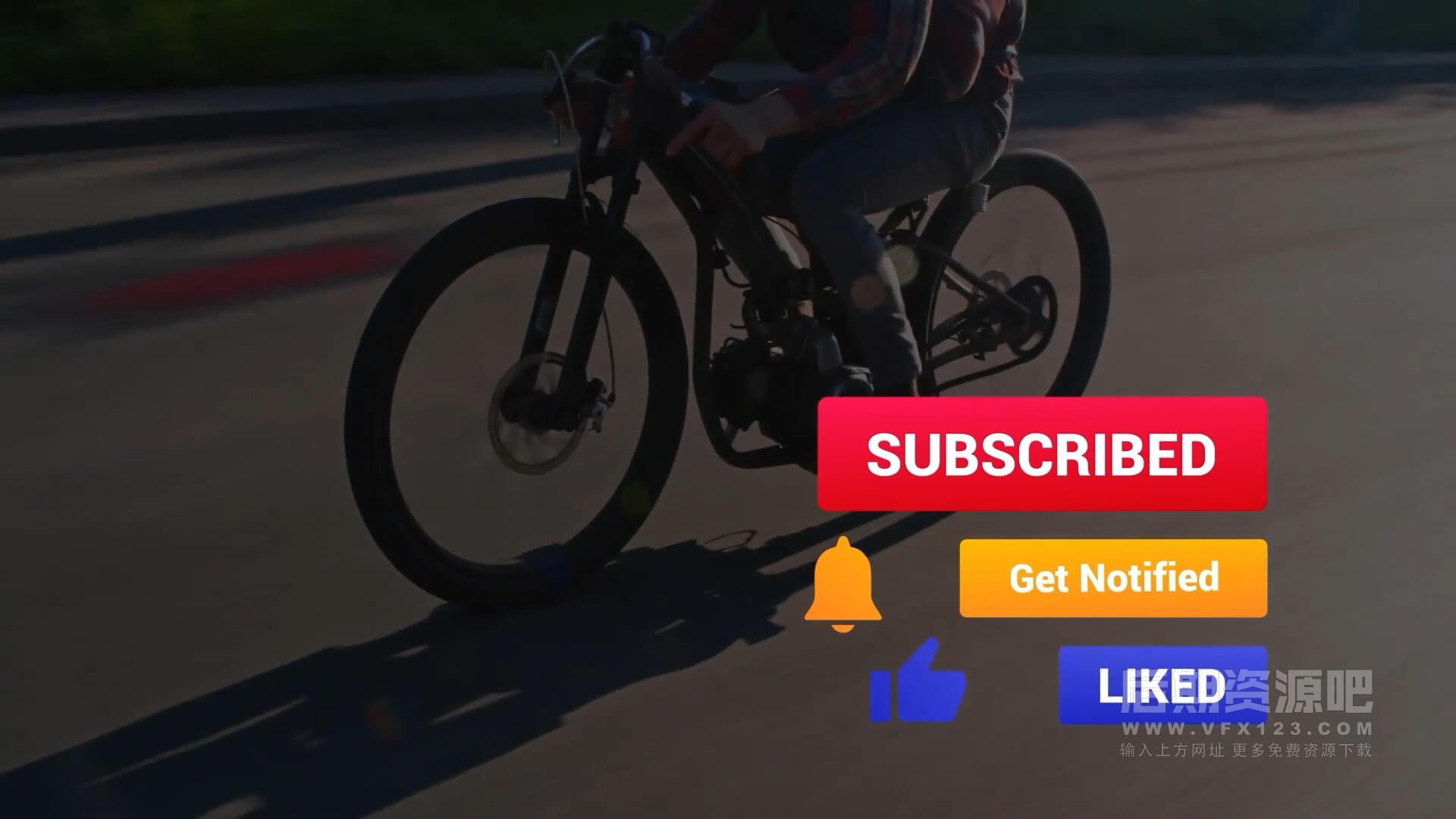 fcpx插件 10组彩色博主头像订阅通知点赞模板 Colorful Subscribes