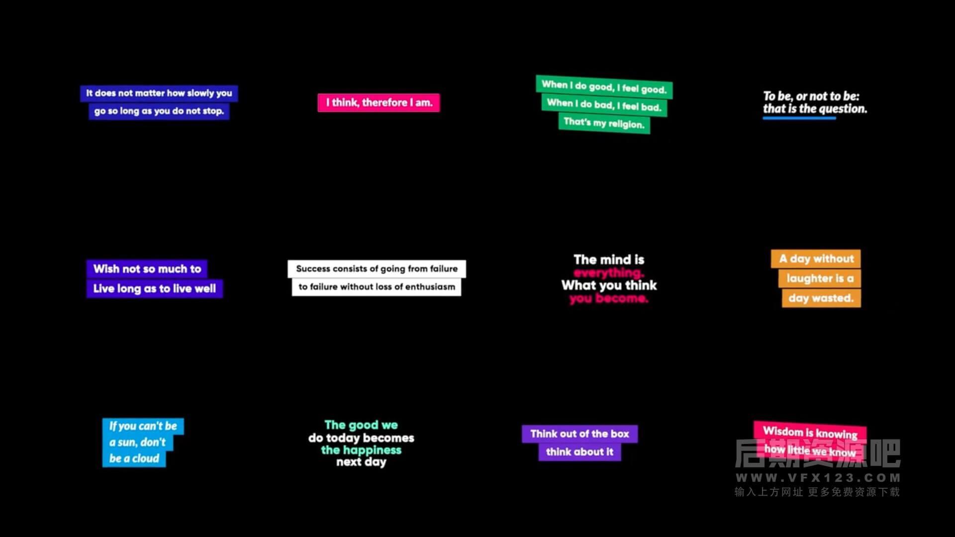 fcpx标题插件 12组社交媒体对话多行文字动画预设 Social Titles
