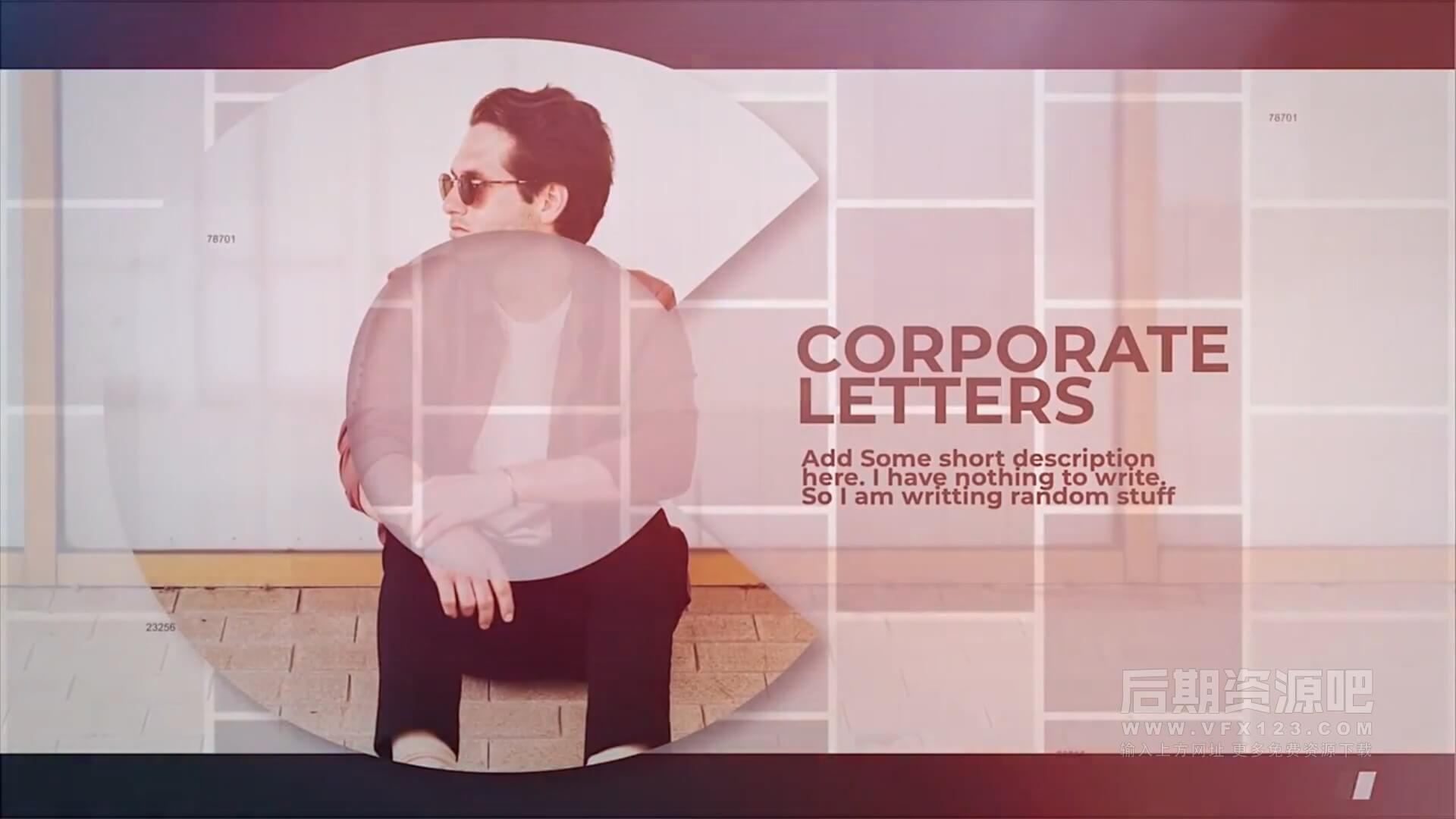 fcpx主题模板 商务风格公司推广宣传片头模板 Corporate Letters