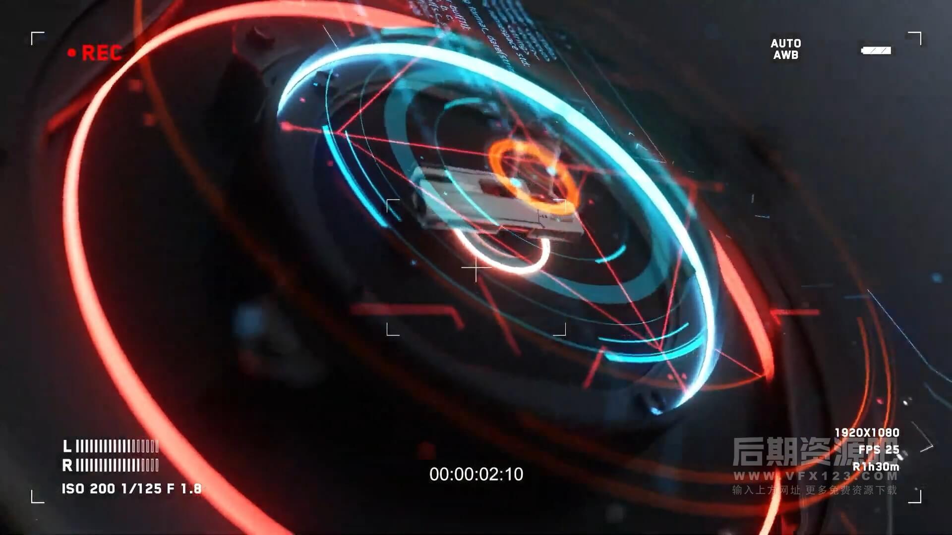 视频素材 100个高科技科幻HUD元素包 Hud Elements Pack