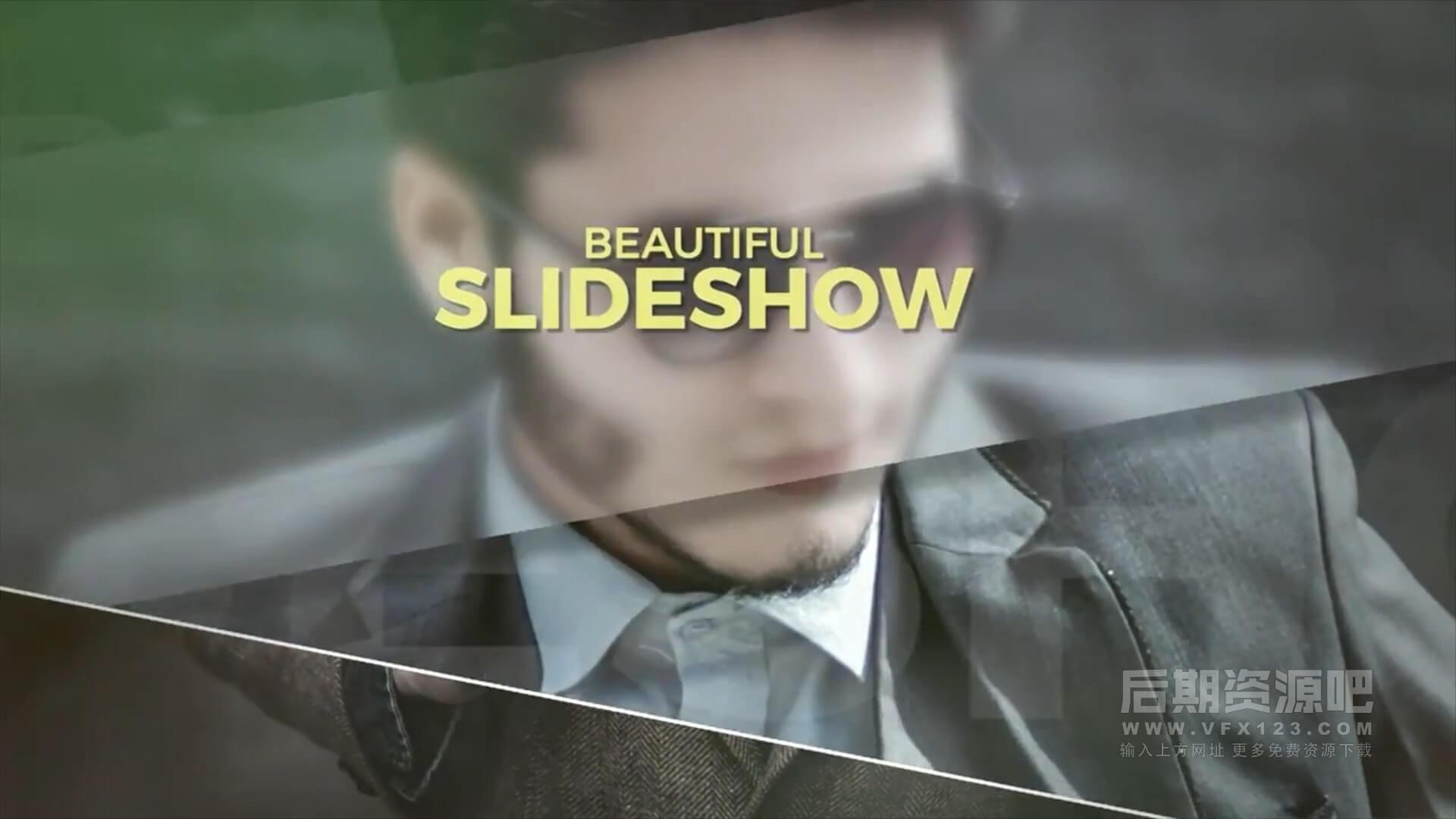 fcpx主题模板 毛玻璃光晕效果图文视频展示片头 Beautiful Slideshow
