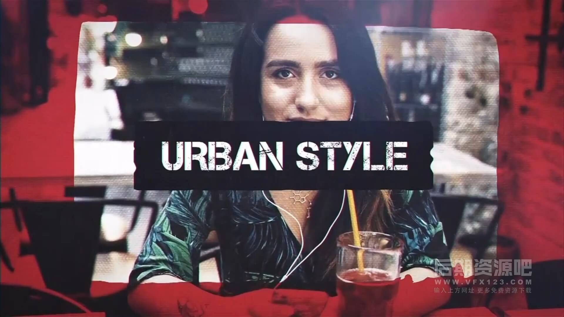 fcpx主题模板 现代潮流都市风格图文视频展示片头 Urban Style