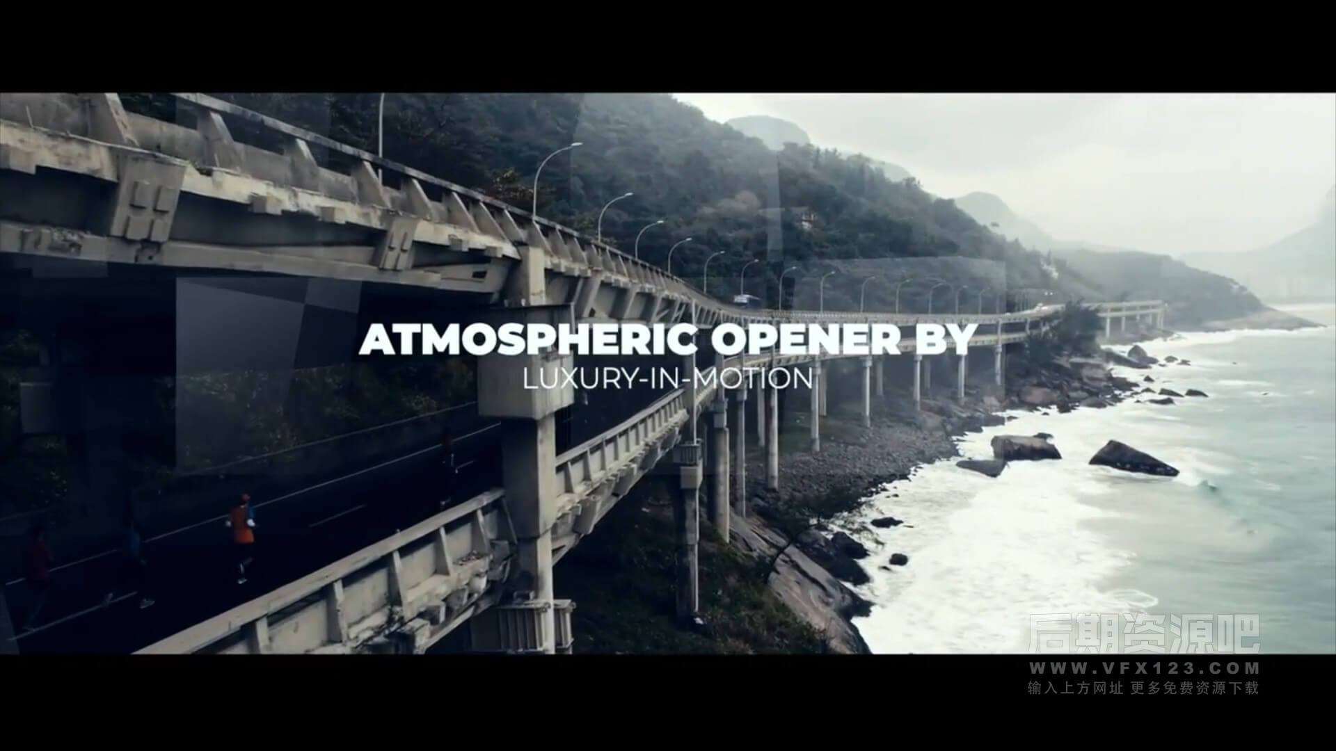 fcpx主题模板 大气梦幻棱镜光晕漏光效果图文展示片头 Atmospheric Opener