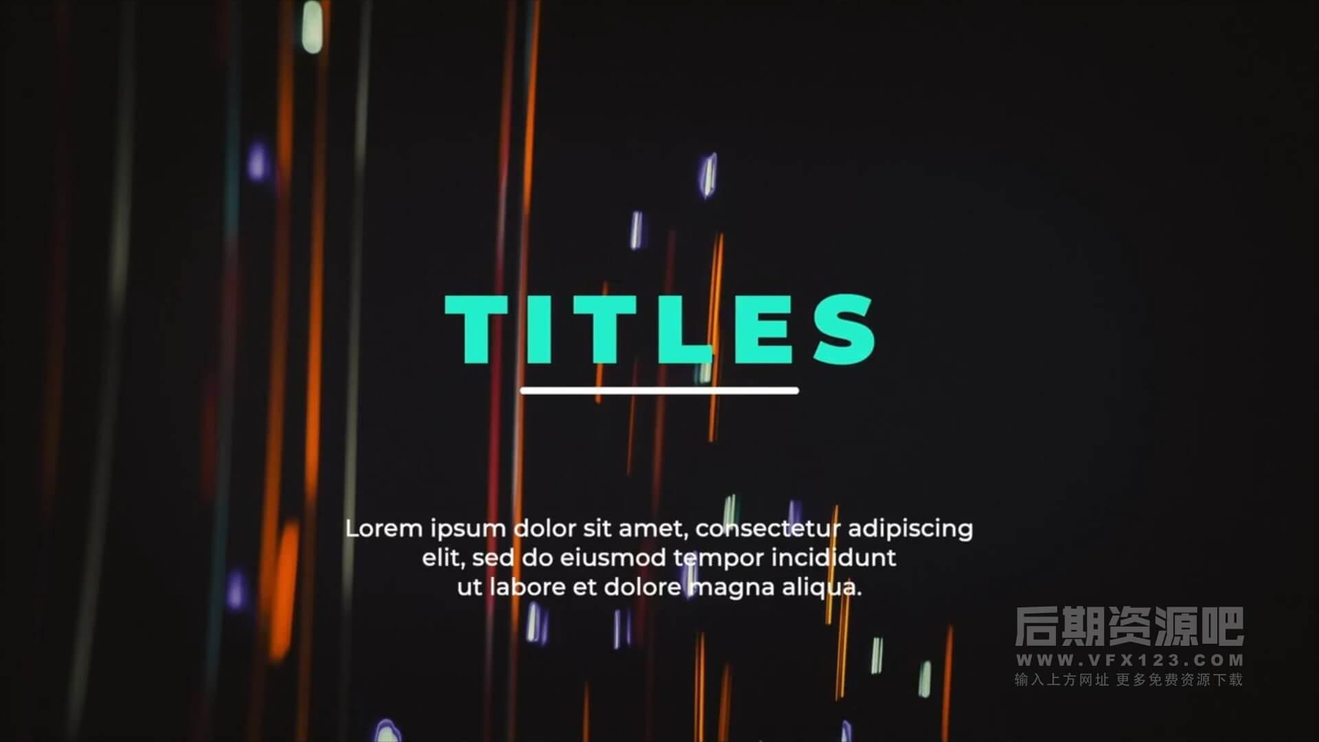 fcpx插件 16组版式设计标题模板侧边栏动画 Typography