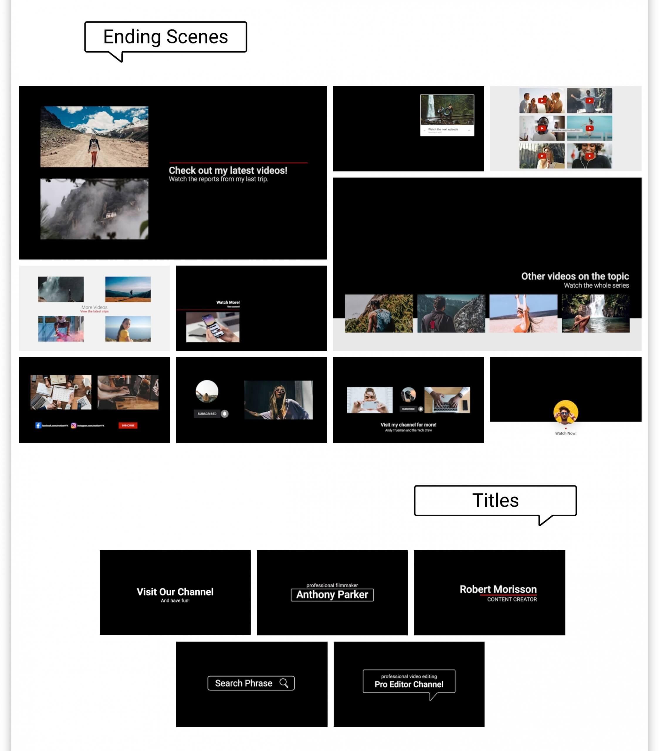 fcpx插件 视频博主影片制作工具包 LOGO展示下节预告点赞背景等 mTuber 2