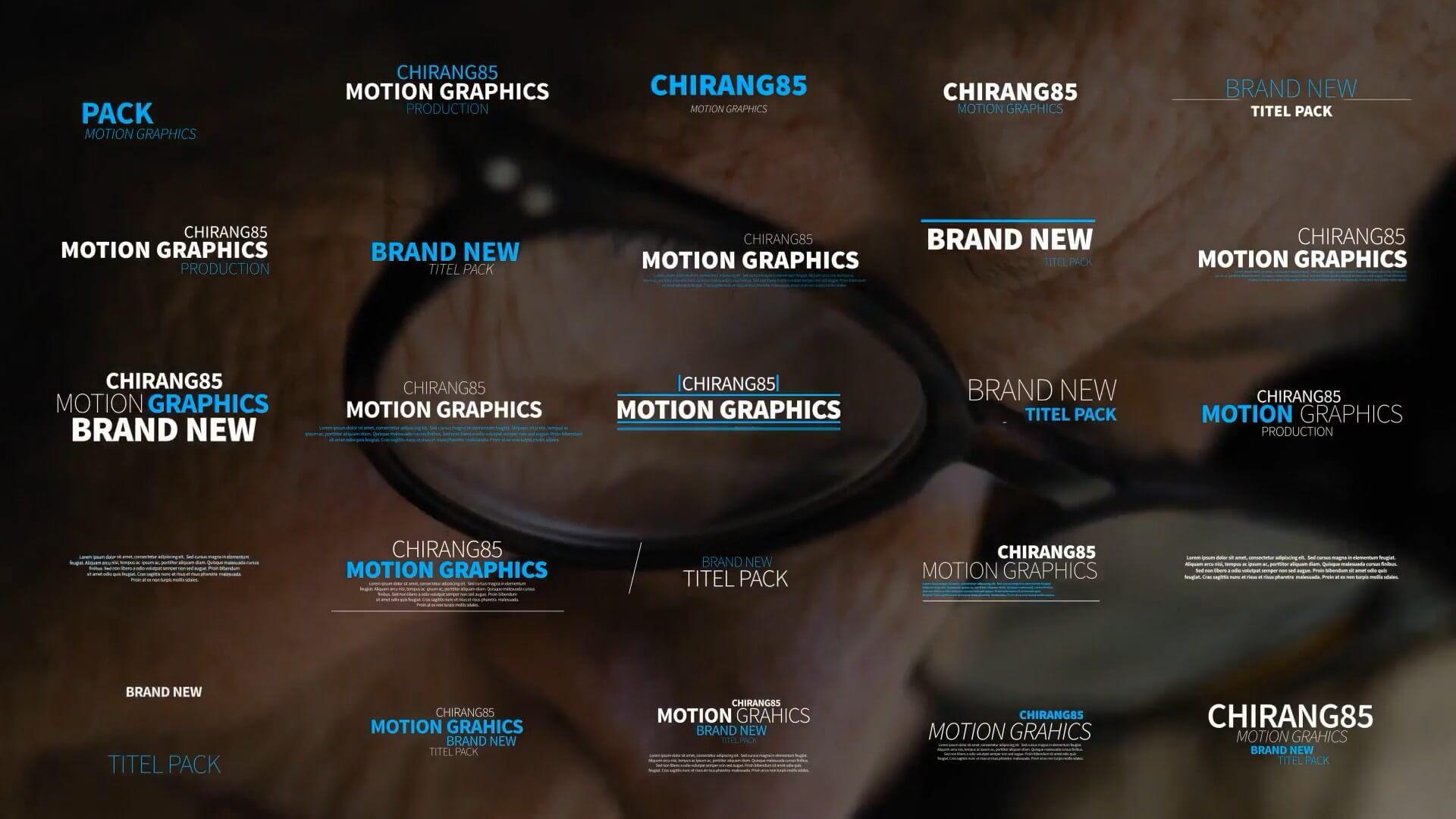 AE模板 150个动感字幕条标题动画预设 Motion Typography