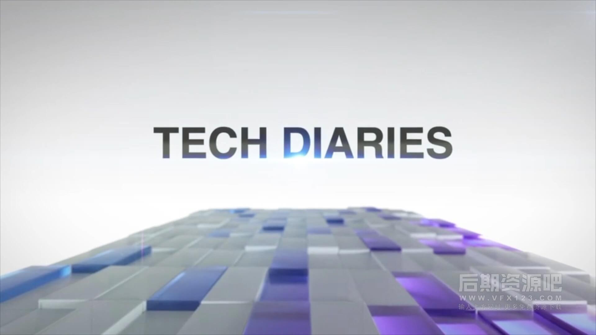 Motion模板 科技财经商务类新闻片头模板 Elite Cubes