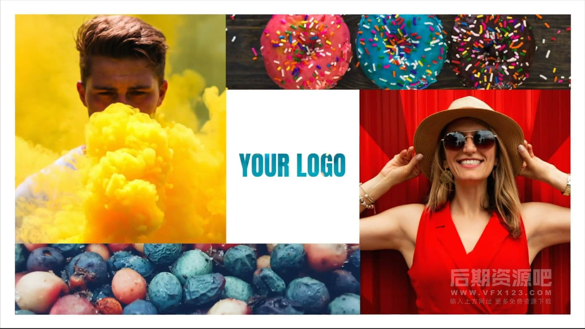 fcpx插件 10组照片拼接动画样式徽标LOGO展示片头模板 Photo Openers Logo Reveal