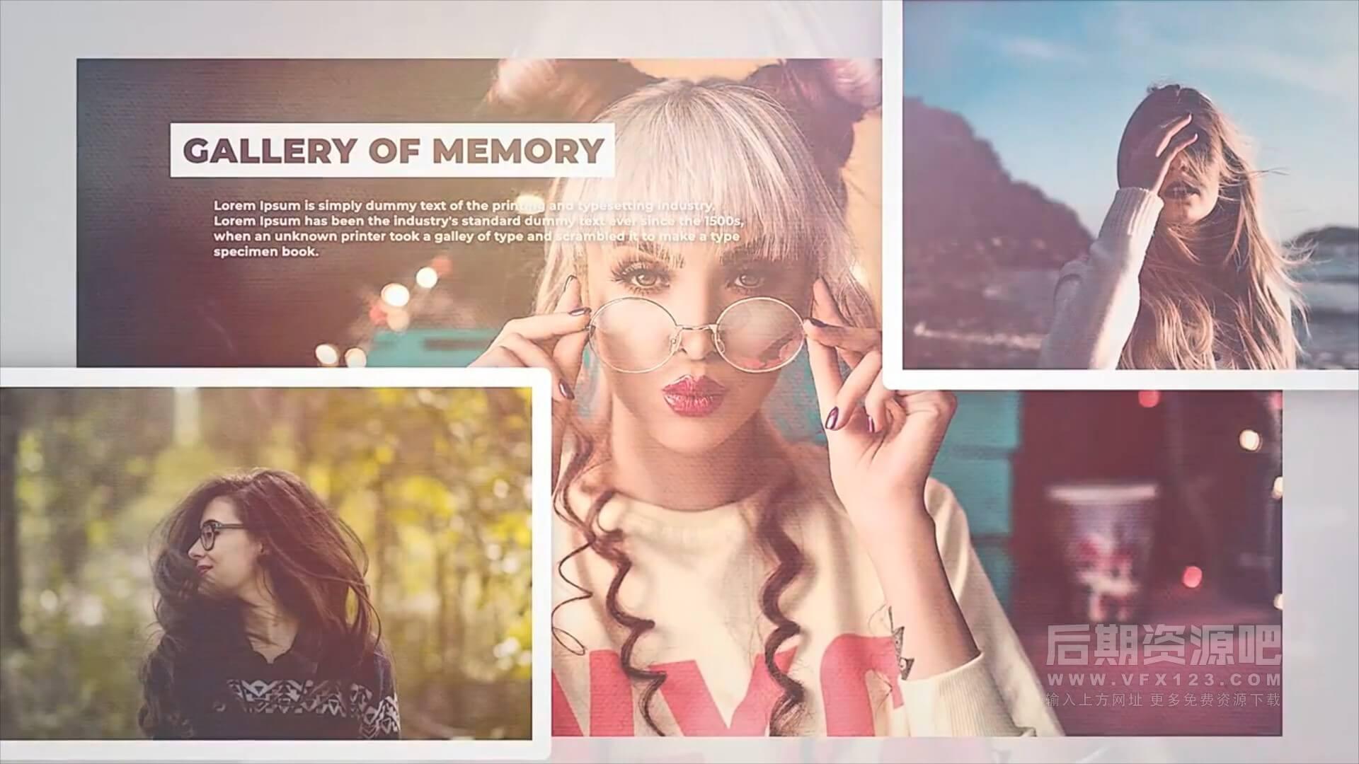 fcpx插件 亮丽优雅图文相册展示模板 Gallery Of Memory