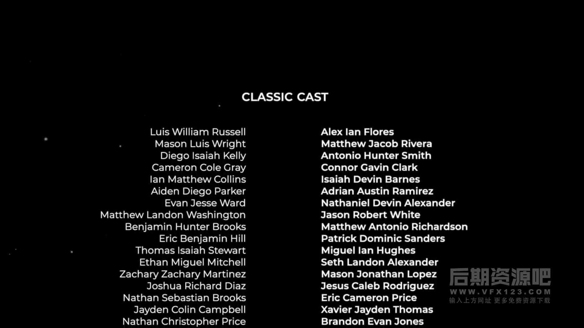 fcpx插件 电影片头片尾演职人员滚动字幕预设 Film Credits Pro