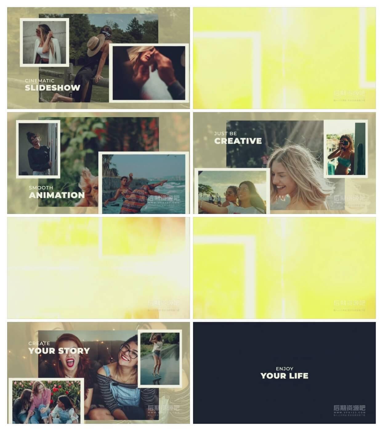 fcpx主题模板 美好回忆纪念相册图文展示 Memories Slideshow