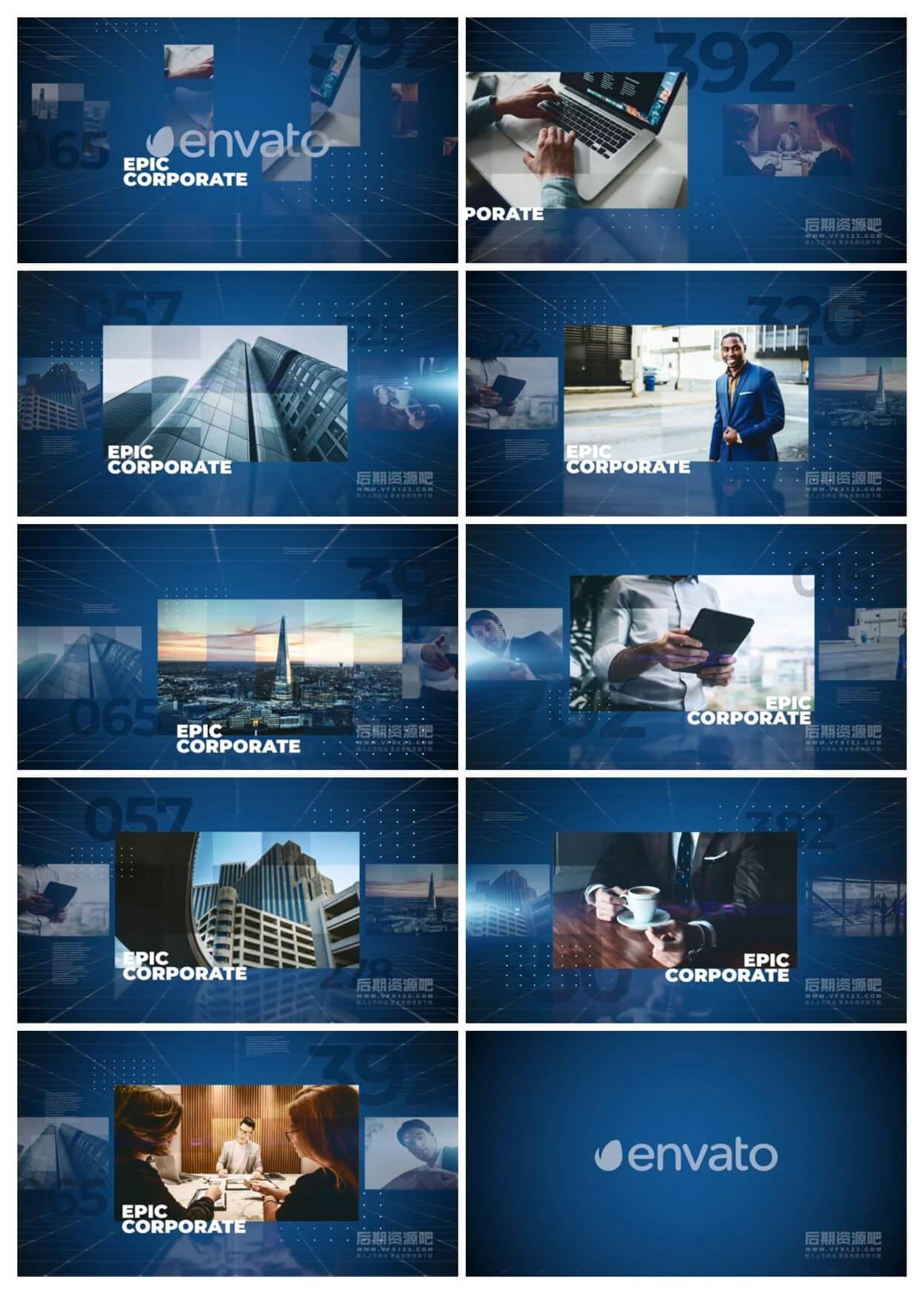 fcpx插件 史诗级公司企业宣传片介绍主题模板 Epic Corporate