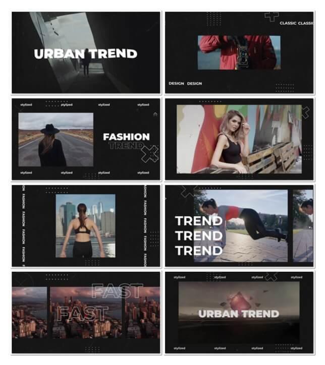 fcpx插件 超现代城市街头个性图文展示片头模板 10个分镜 Urban Trend