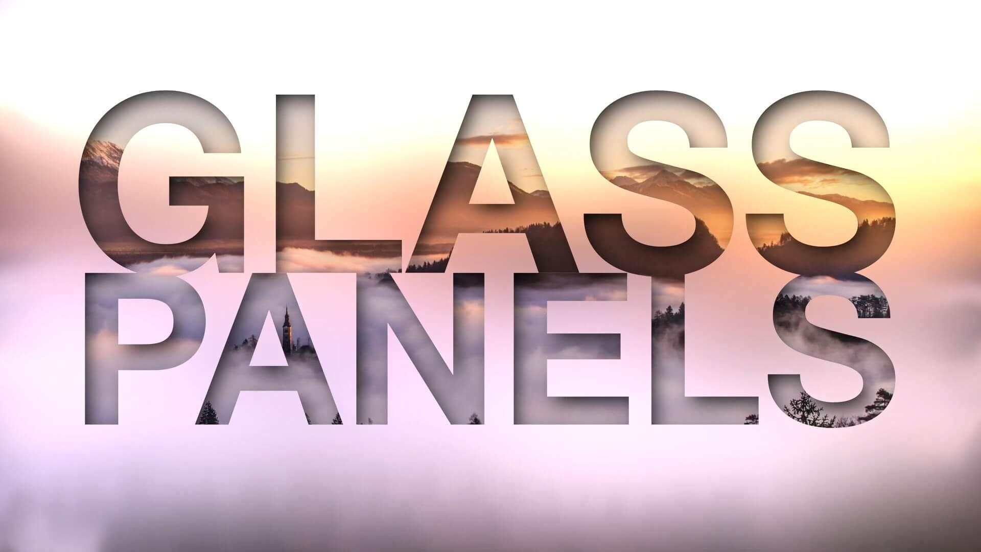 fcpx插件 透明玻璃水晶质感侧边栏标题制作预设 Glass Panels