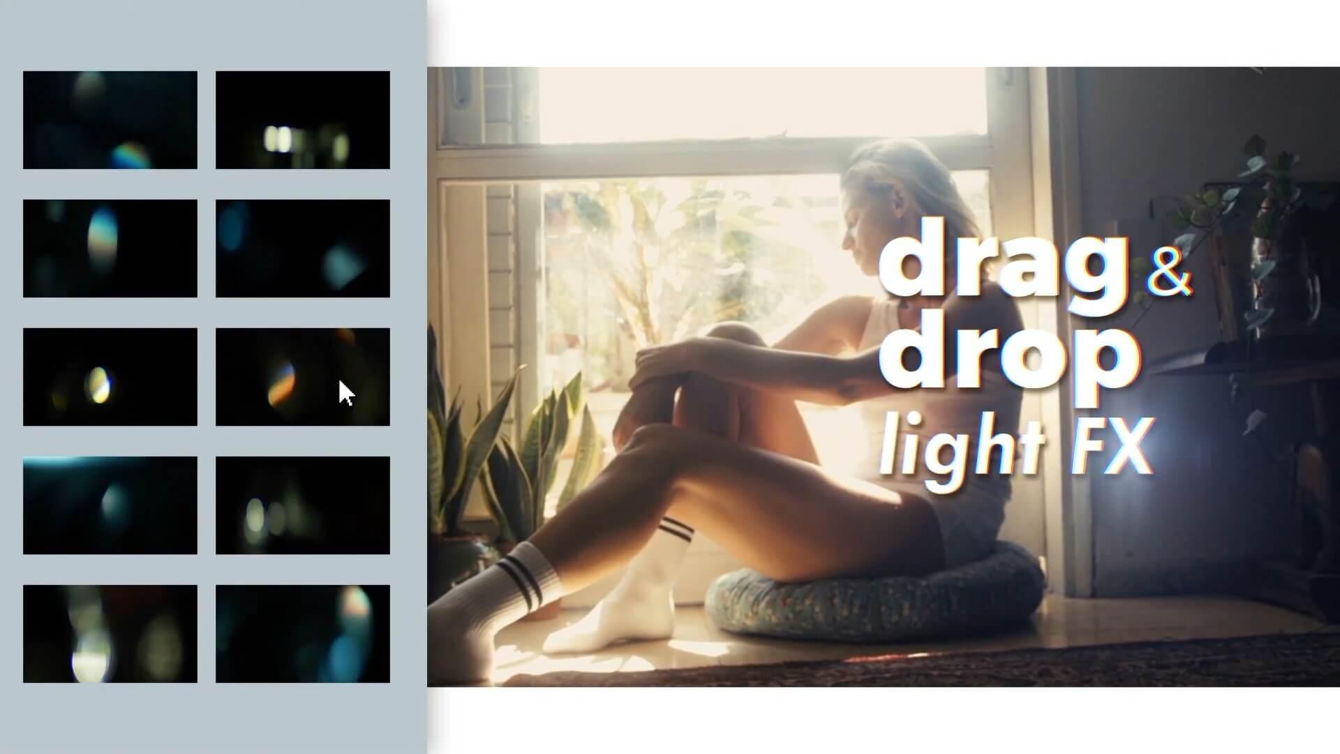 视频素材 126个4K唯美优雅镜头光斑漂亮炫光动画叠加素材 LUMEN Light Pack