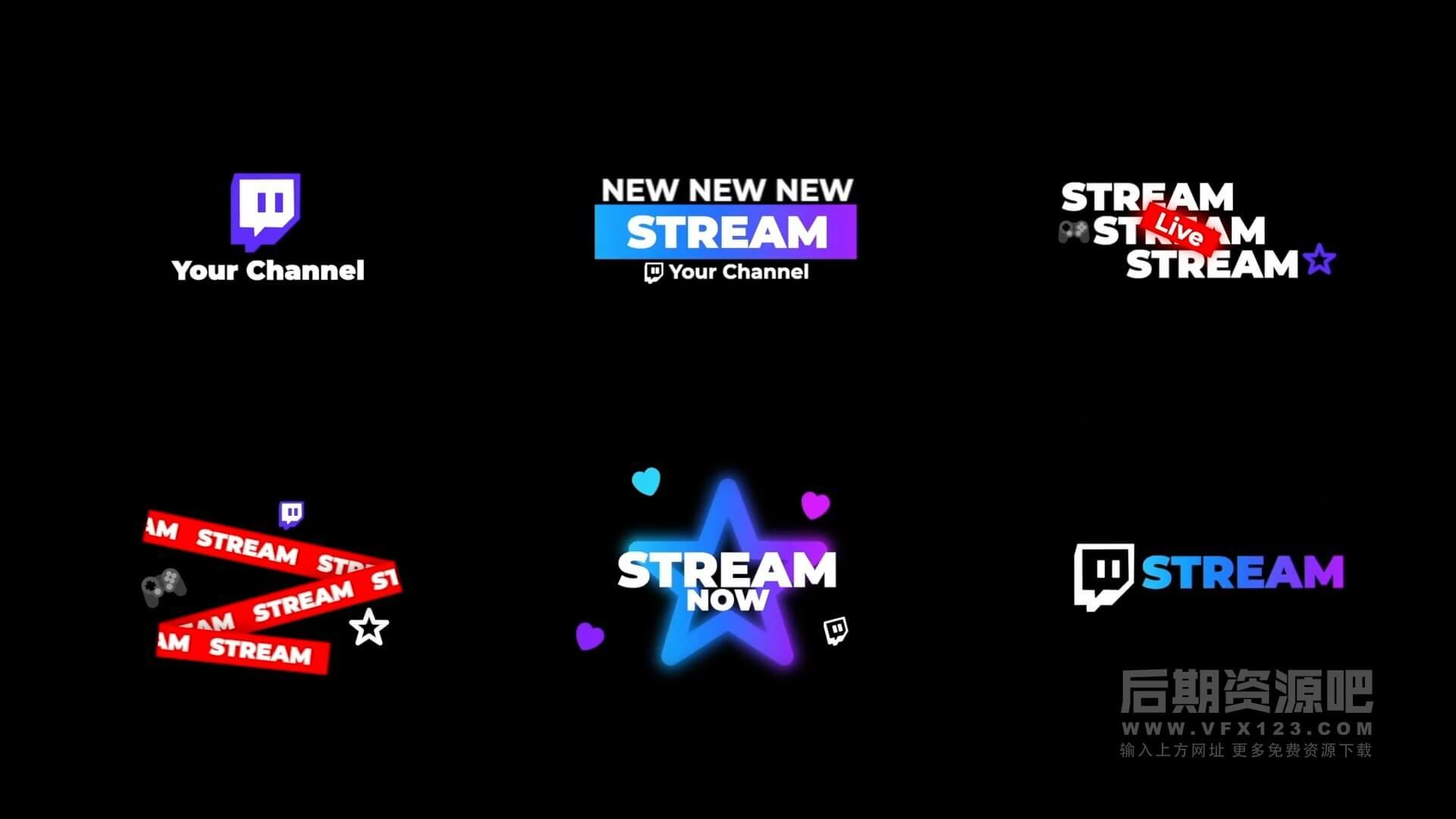 fcpx插件 游戏主播短视频制作素材包 支持竖屏 Gamers Pack