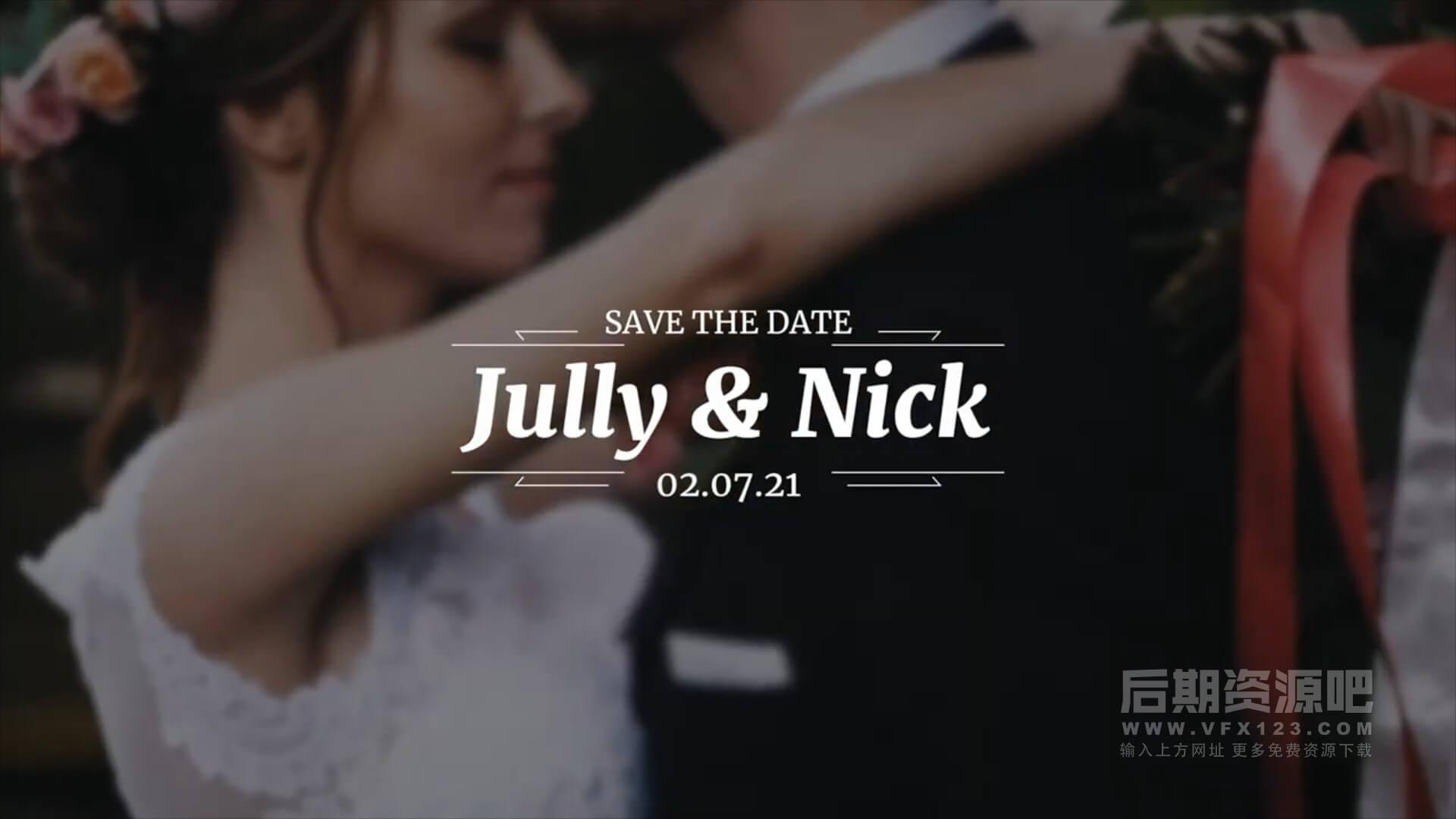 fcpx插件 30组优雅浪漫婚礼人名婚期标题动画预设 Elegant Titles