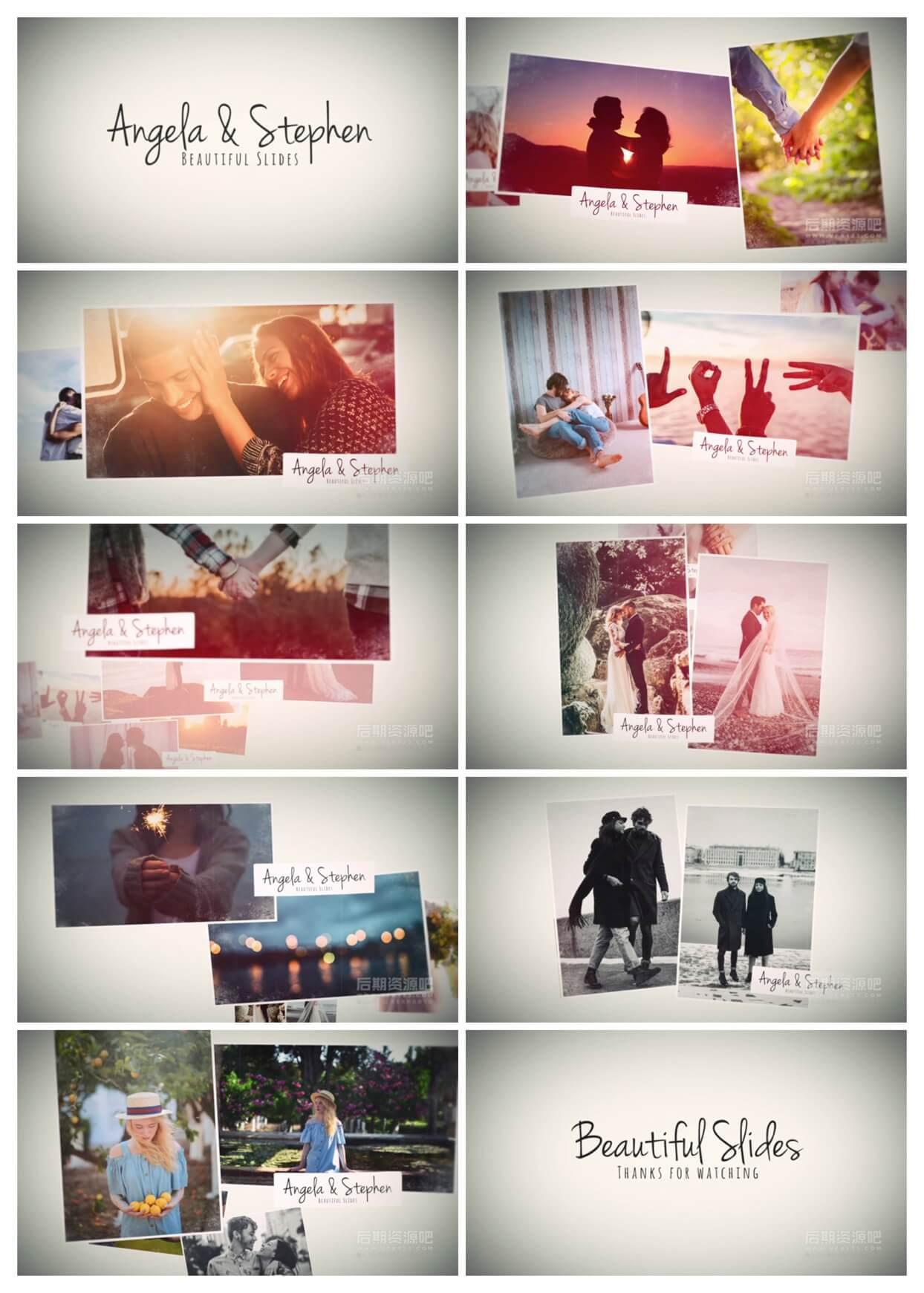 fcpx插件 优雅爱情婚礼相册图文展示主题模板 Beautiful Memories Slides