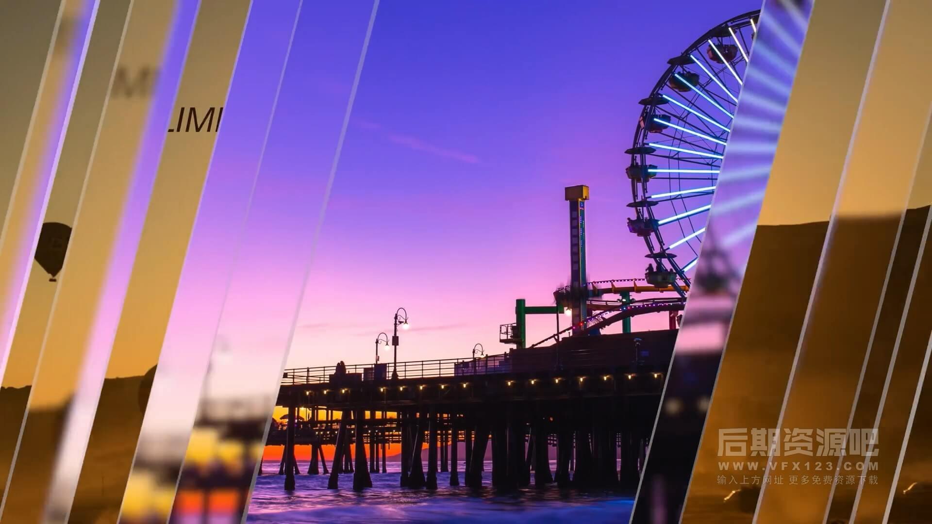 fcpx插件 玻璃质感过渡转场片头动画标题模板 支持M1 Glass Slideshow