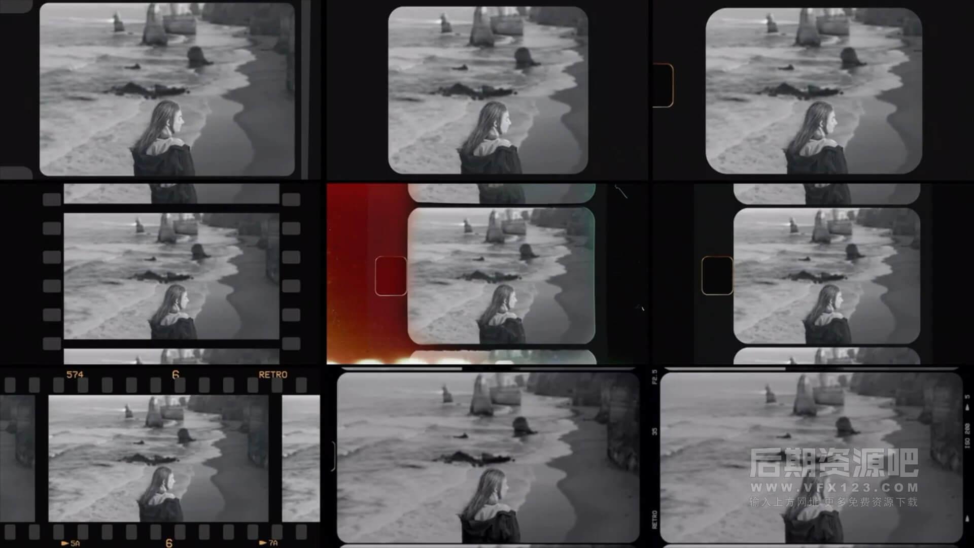 fcpx插件 46个复古风格老胶片效果+叠加素材+调色预设 Film Look