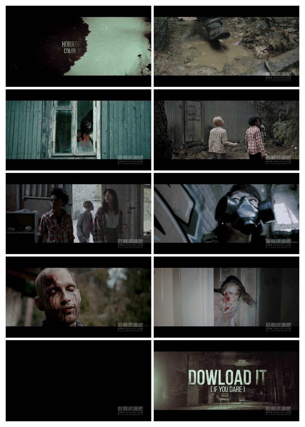 LUTs预设 30组恐怖电影颜色分级调色预设 Horror Film Color Grades
